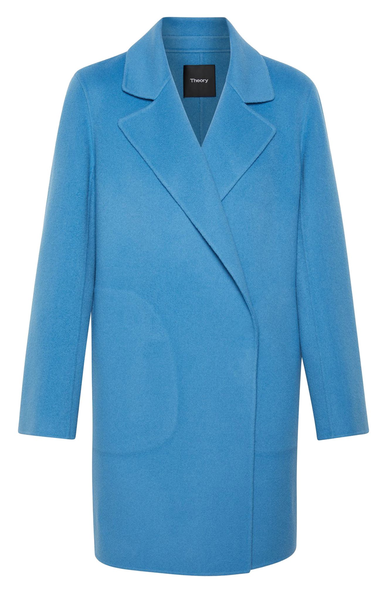 THEORY, Wool & Cashmere Boy Coat, Alternate thumbnail 5, color, 488