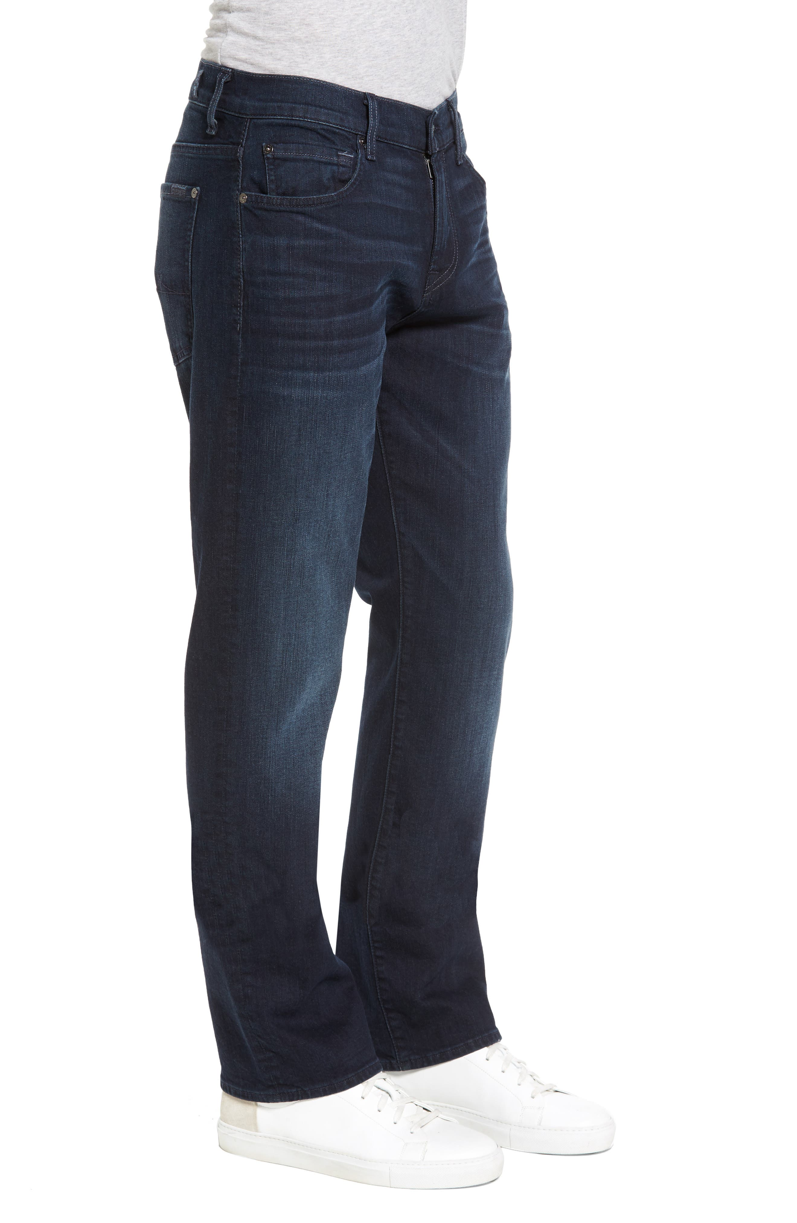 7 FOR ALL MANKIND<SUP>®</SUP>, Luxe Performance - Carsen Straight Leg Jeans, Alternate thumbnail 4, color, DARK CURRENT