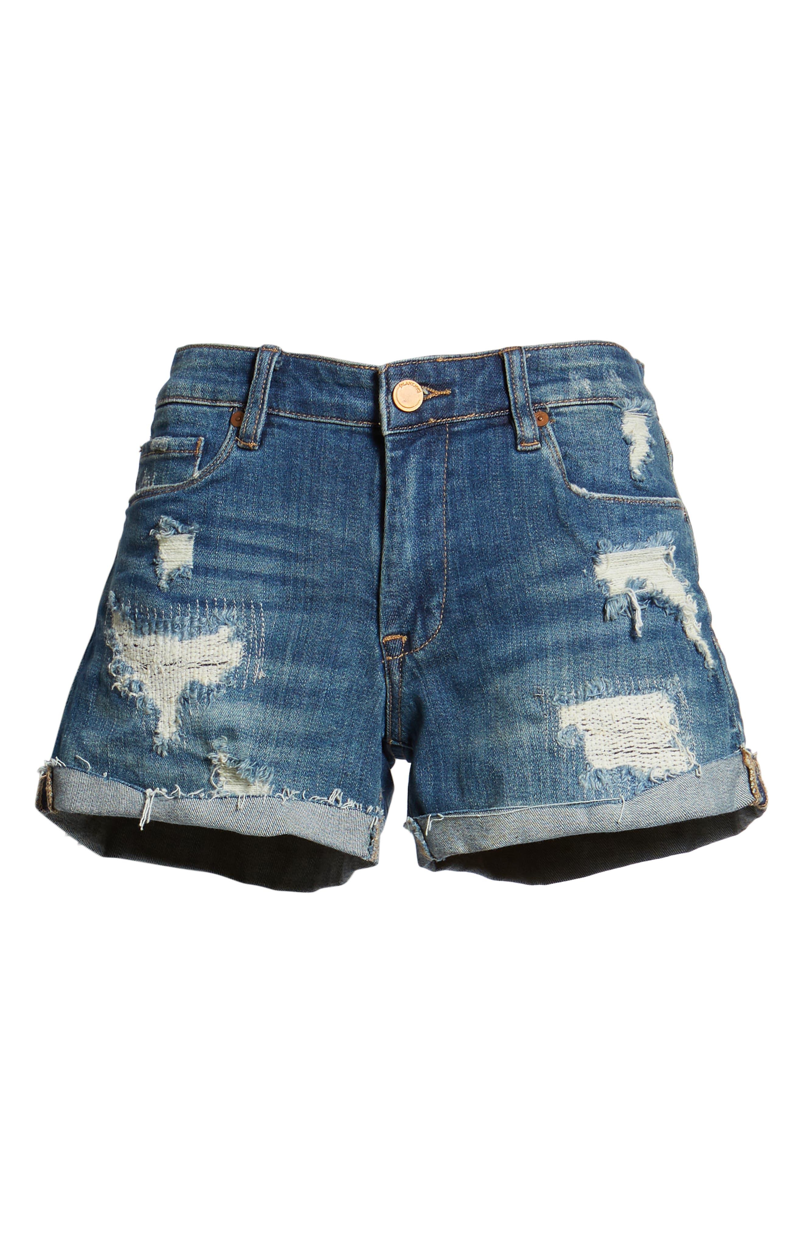 BLANKNYC, Boyfriend Denim Shorts, Alternate thumbnail 7, color, DRESS DOWN