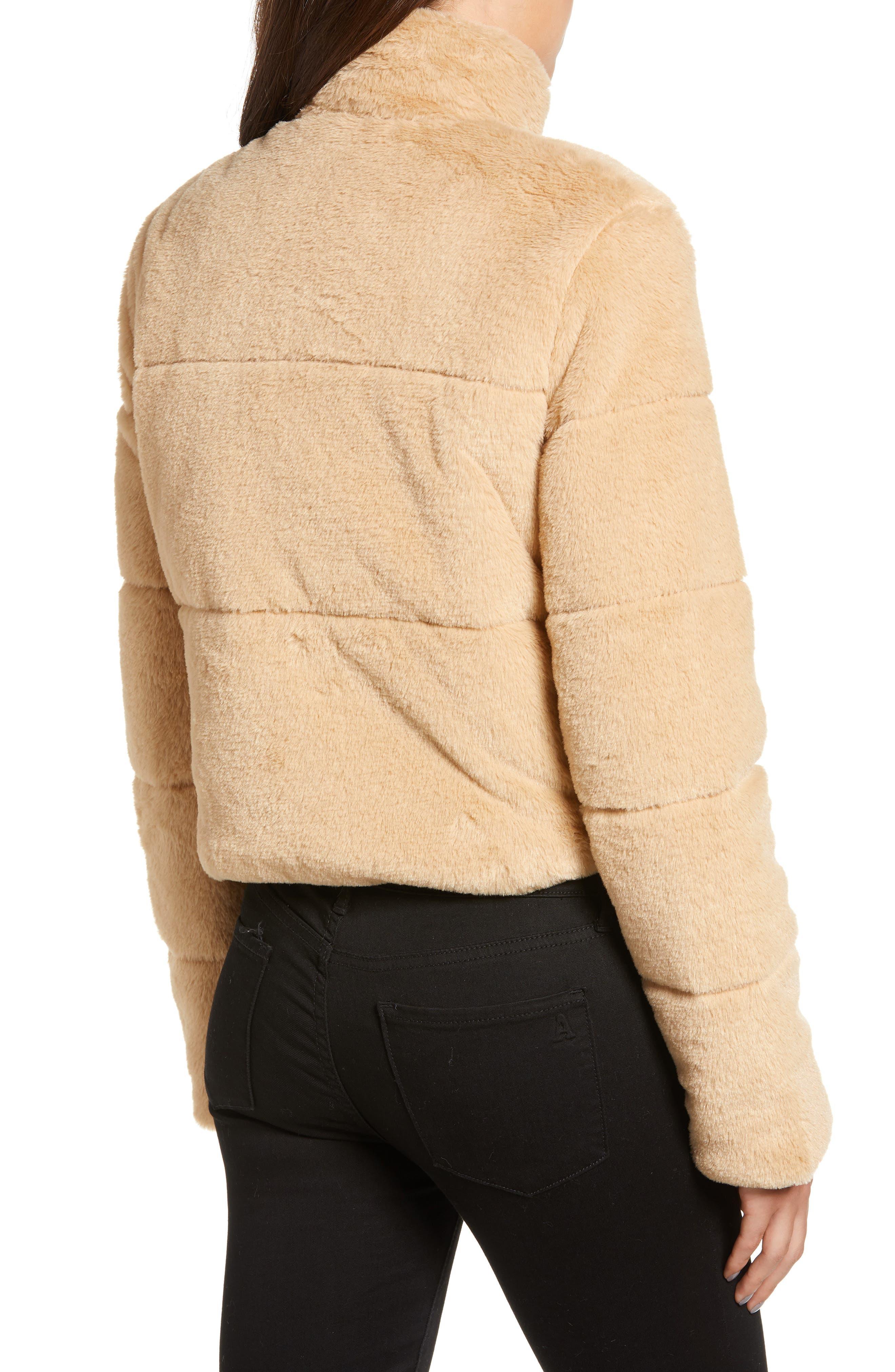 TIGER MIST, Bridget Faux Fur Puffer Jacket, Alternate thumbnail 2, color, 250