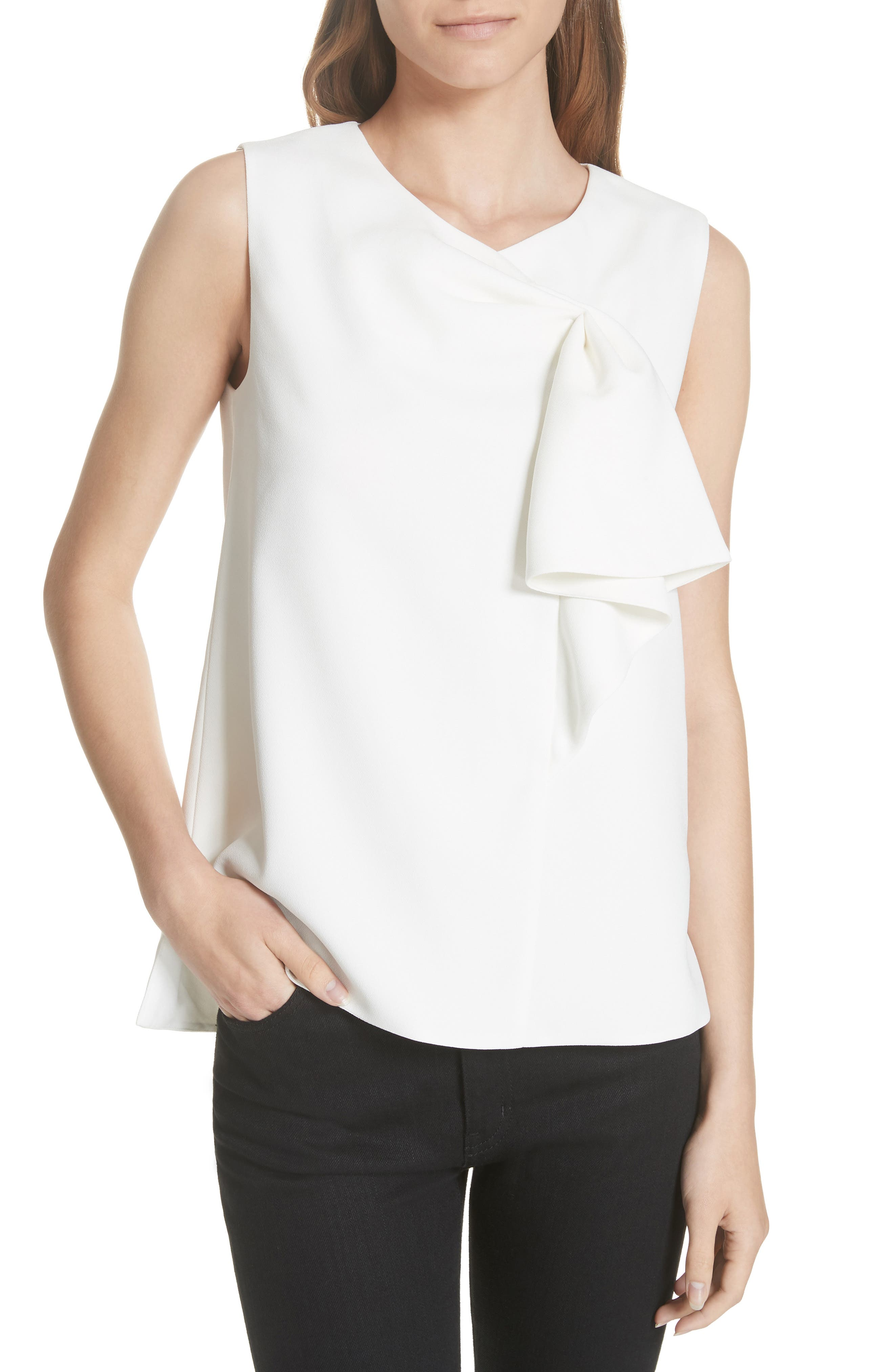 TED BAKER LONDON Kelliss Sculpted Bow Sleeveless Top, Main, color, 905