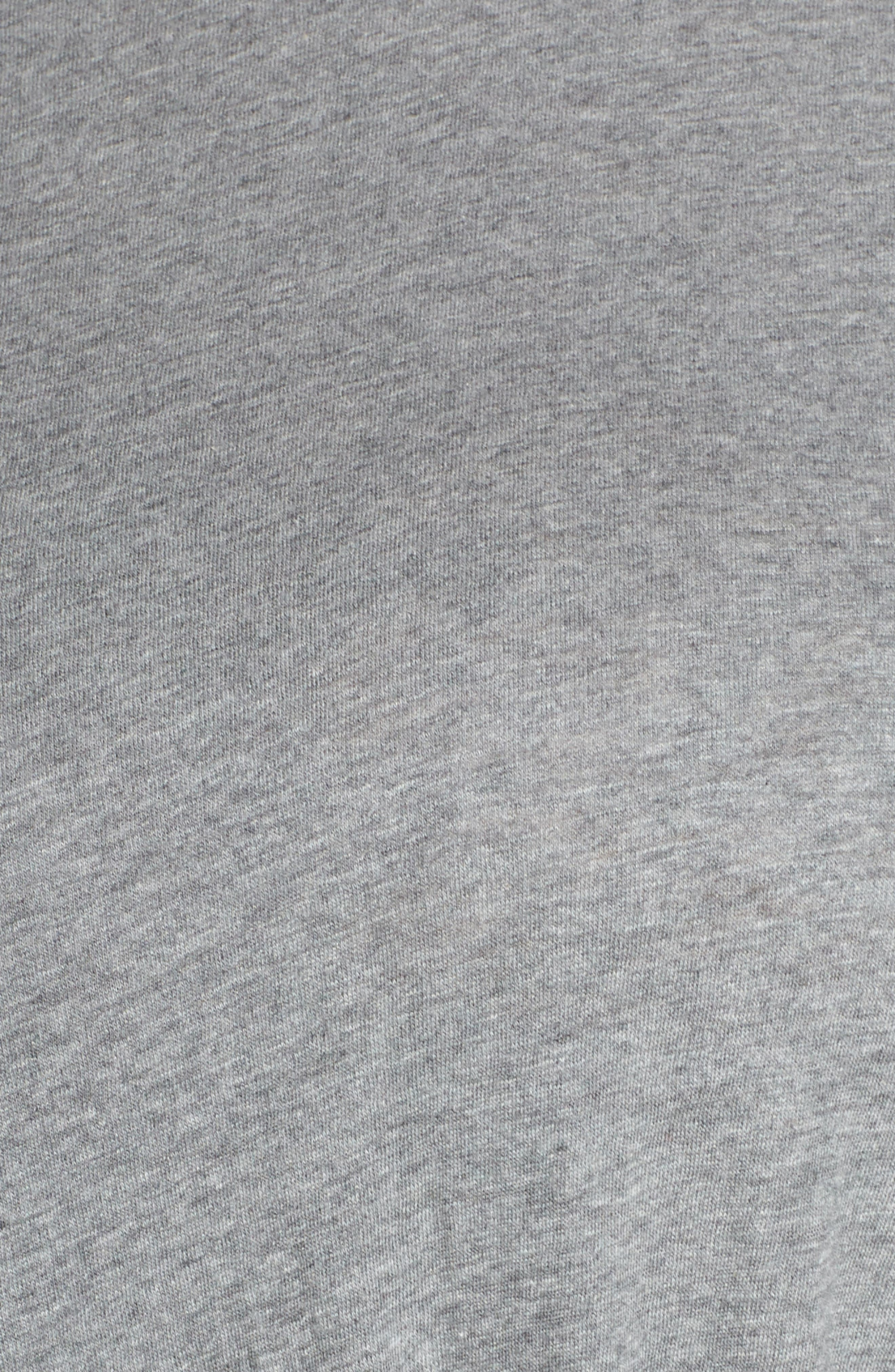CASLON<SUP>®</SUP>, Knot Front T-Shirt Dress, Alternate thumbnail 6, color, GREY DARK HEATHER