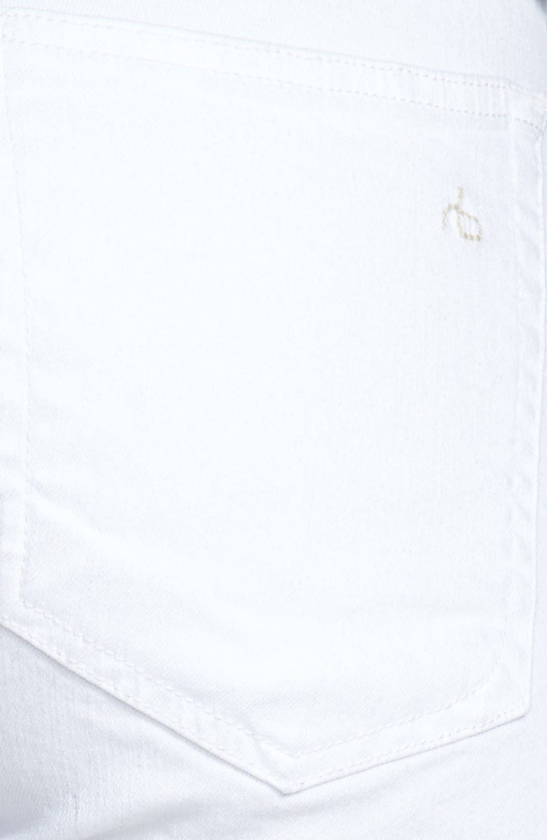 RAG & BONE, 'The Dre' Skinny Jeans, Alternate thumbnail 9, color, BRIGHT WHITE