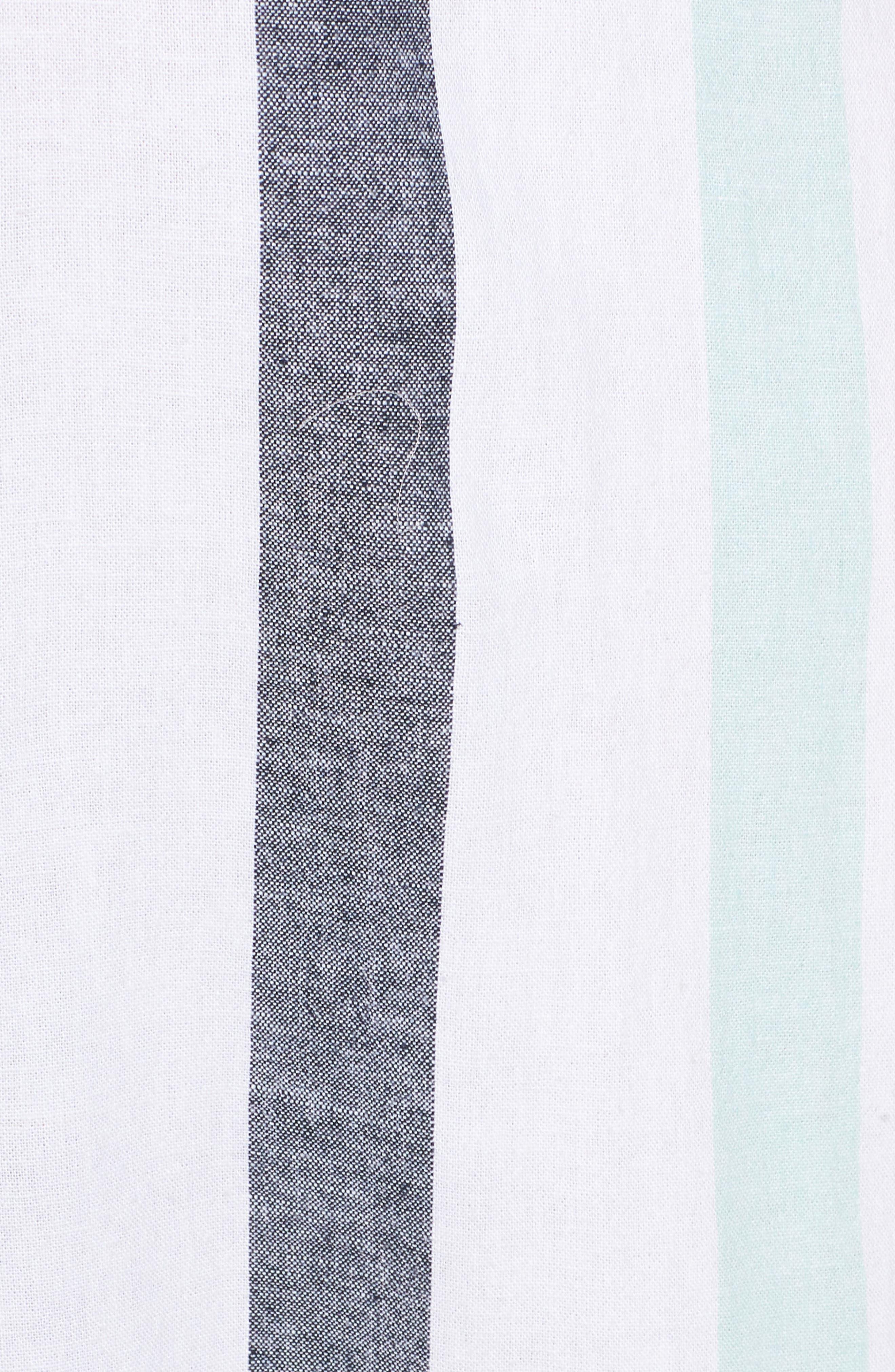 BP., Stripe Sundress, Alternate thumbnail 12, color, BLUE PLACID LACY STRIPE