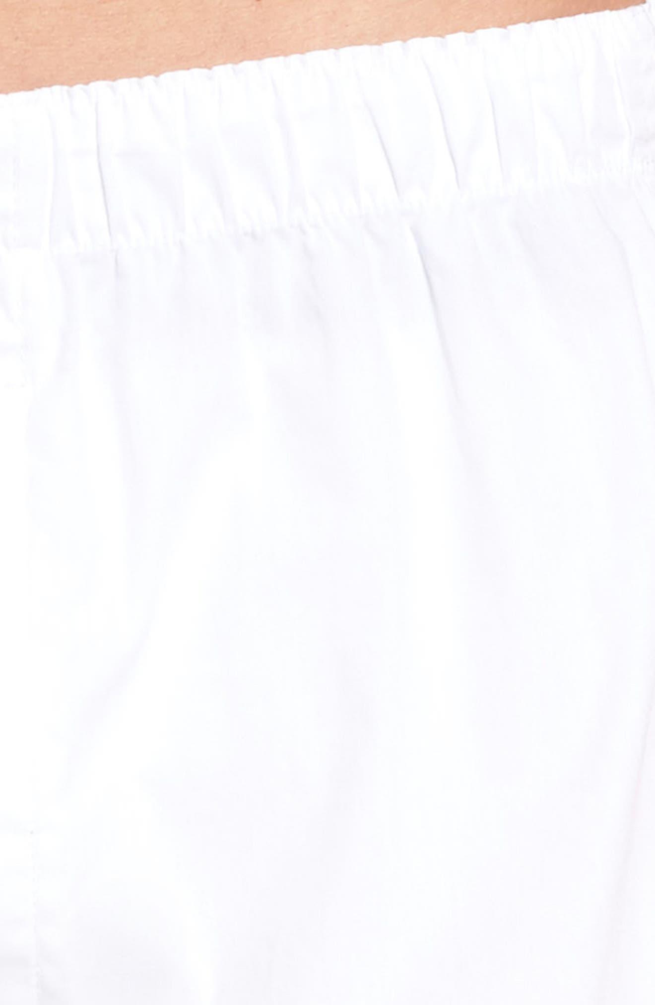MAJESTIC INTERNATIONAL, Majestic Boxer Shorts, Alternate thumbnail 4, color, WHITE