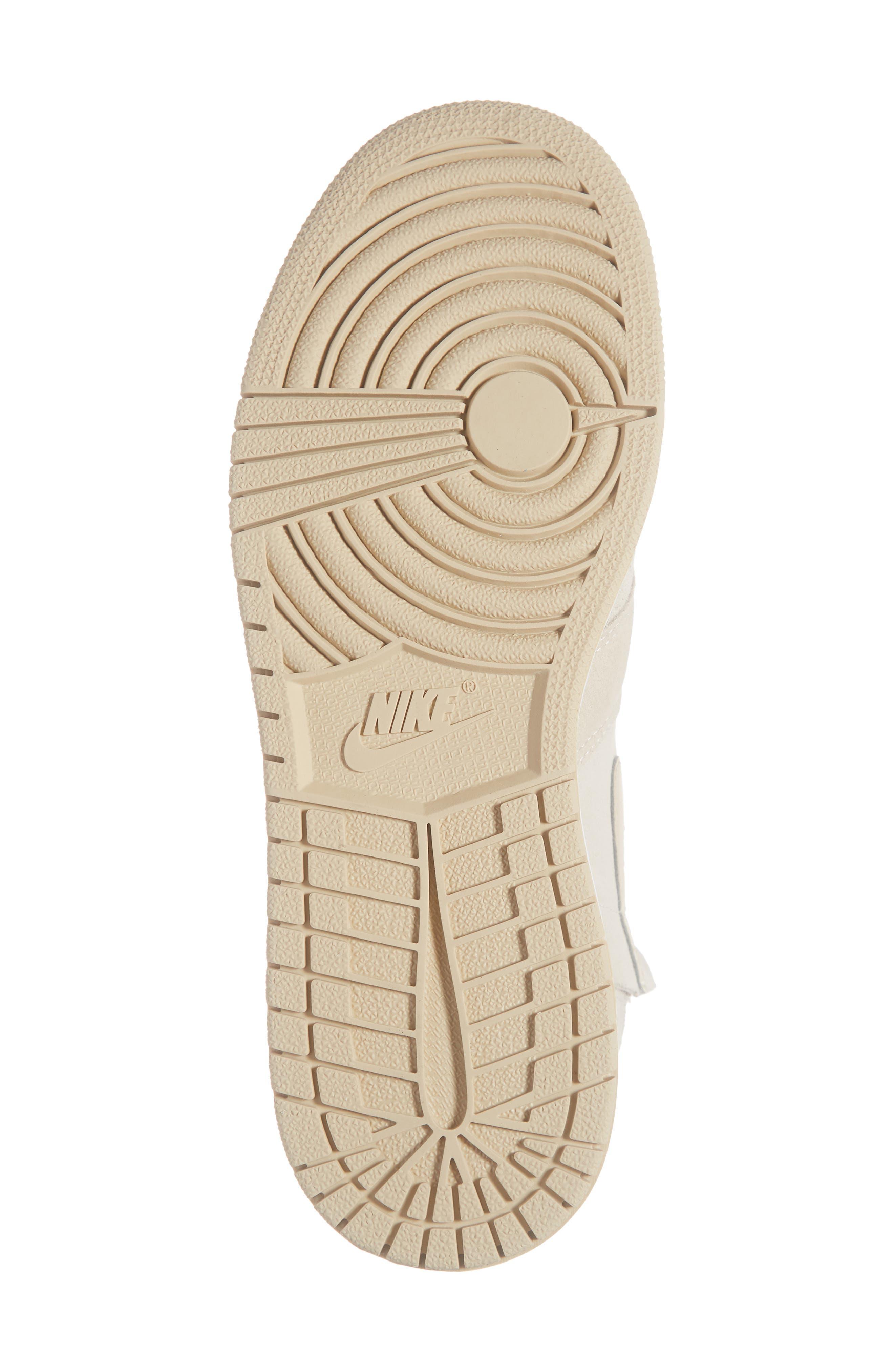 NIKE, Air Jordan 1 Rebel XX High Top Sneaker, Alternate thumbnail 6, color, LIGHT CREAM/ DESERT ORE/ WHITE