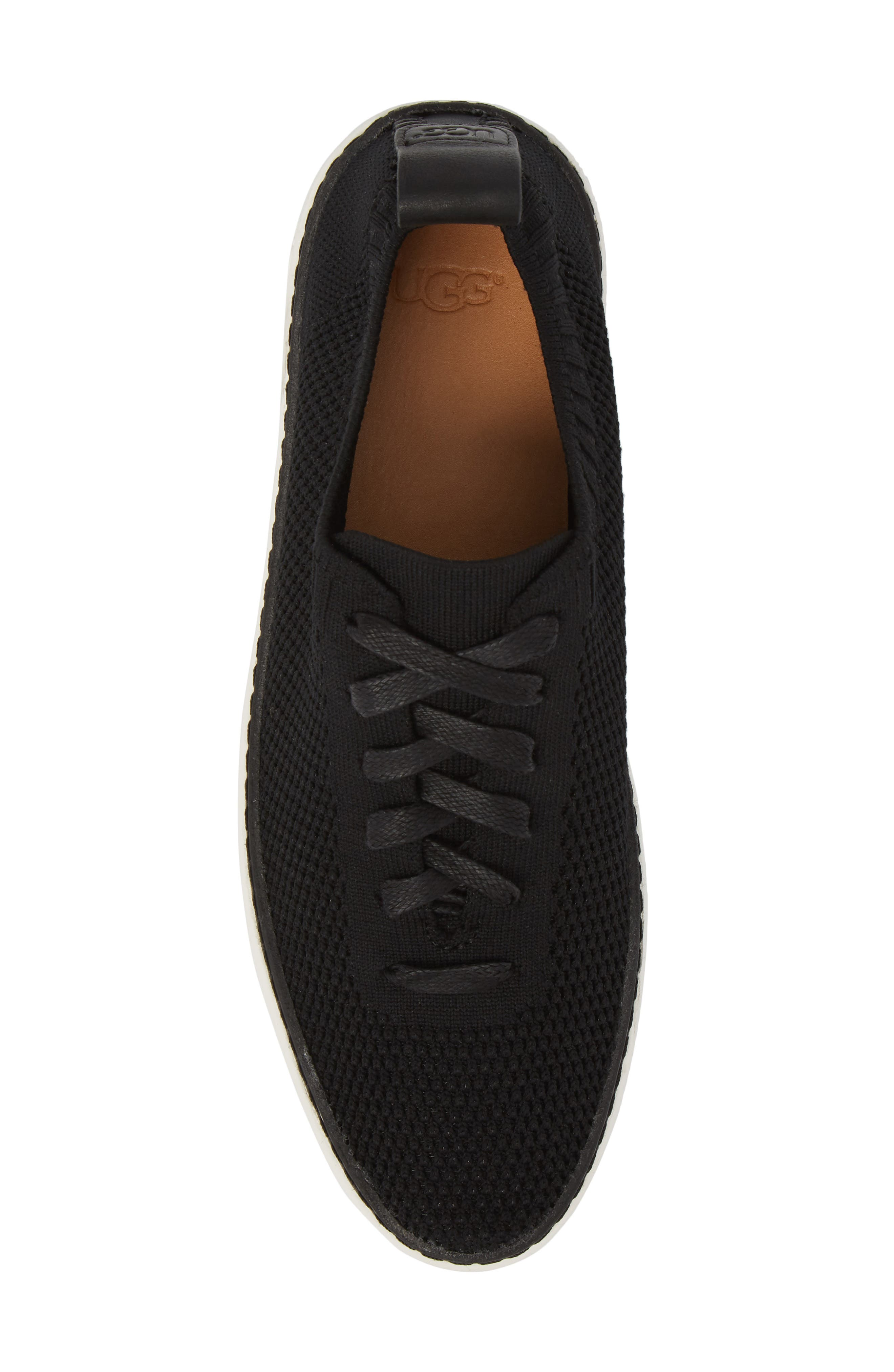 UGG<SUP>®</SUP>, Sidney Sneaker, Alternate thumbnail 5, color, BLACK FABRIC