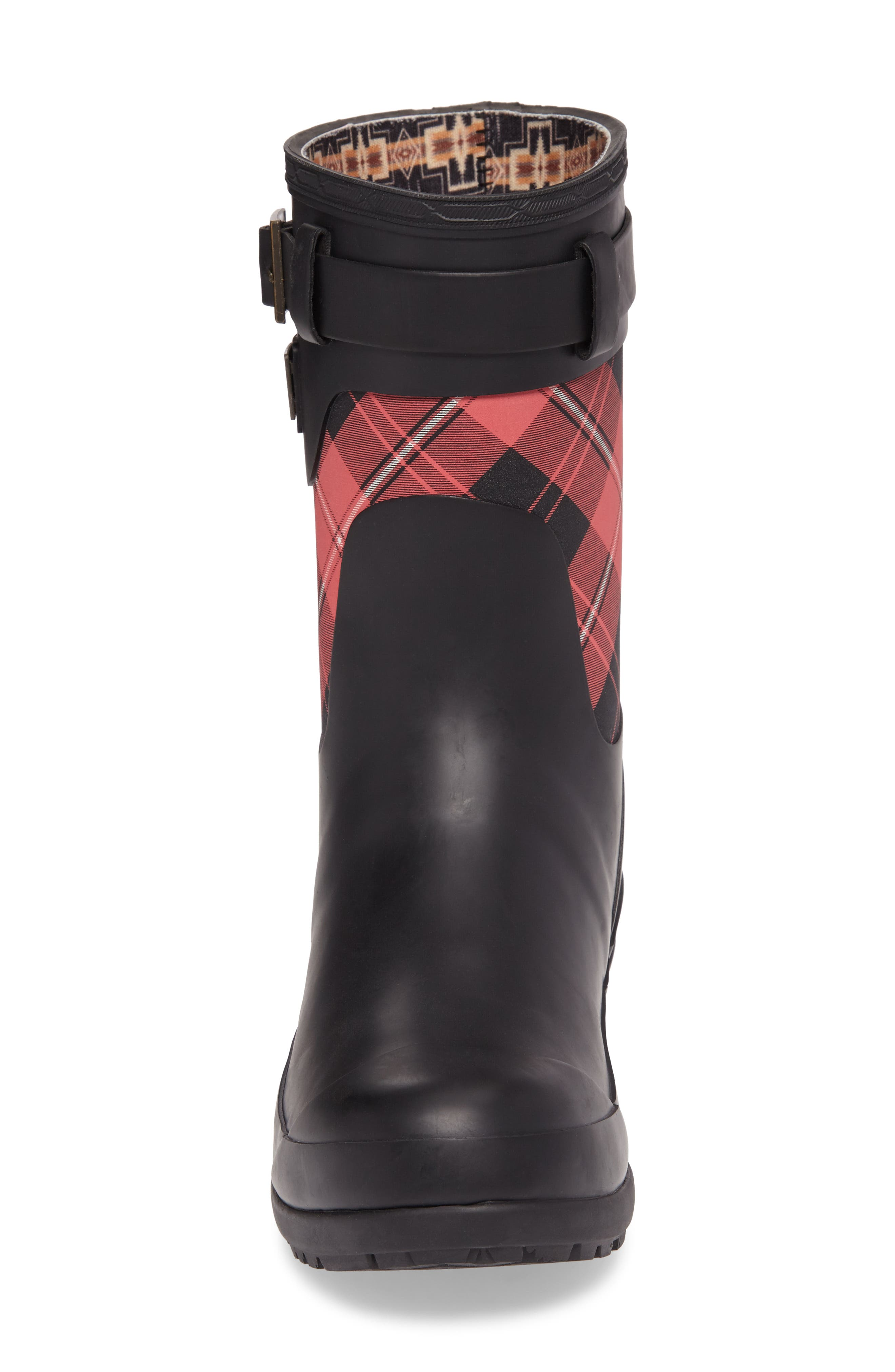 PENDLETON, Heritage Cunningham Tartan Short Boot, Alternate thumbnail 4, color, SCARLET
