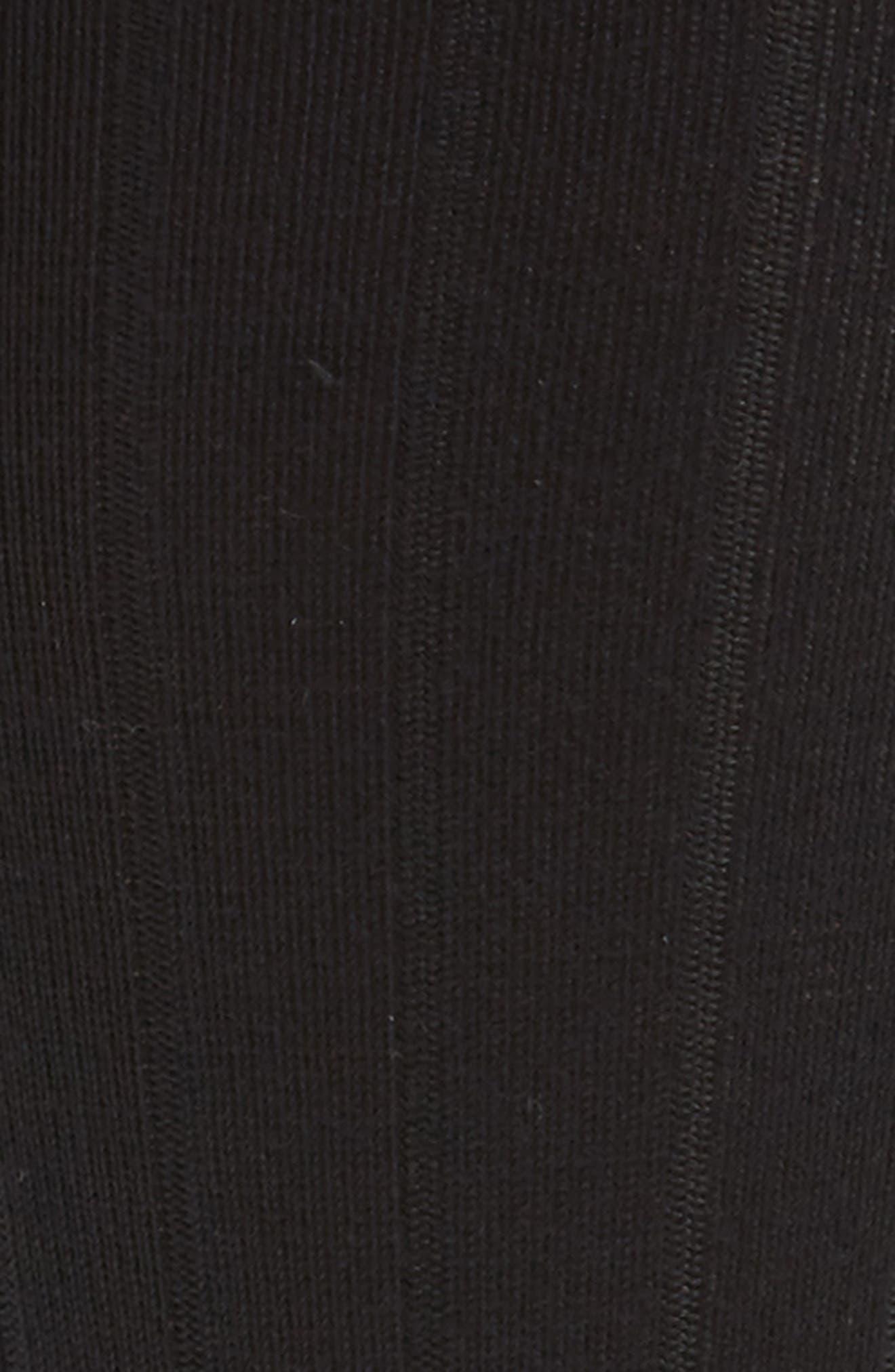 NORDSTROM MEN'S SHOP, Ultra Soft Solid Ribbed Socks, Alternate thumbnail 2, color, BLACK