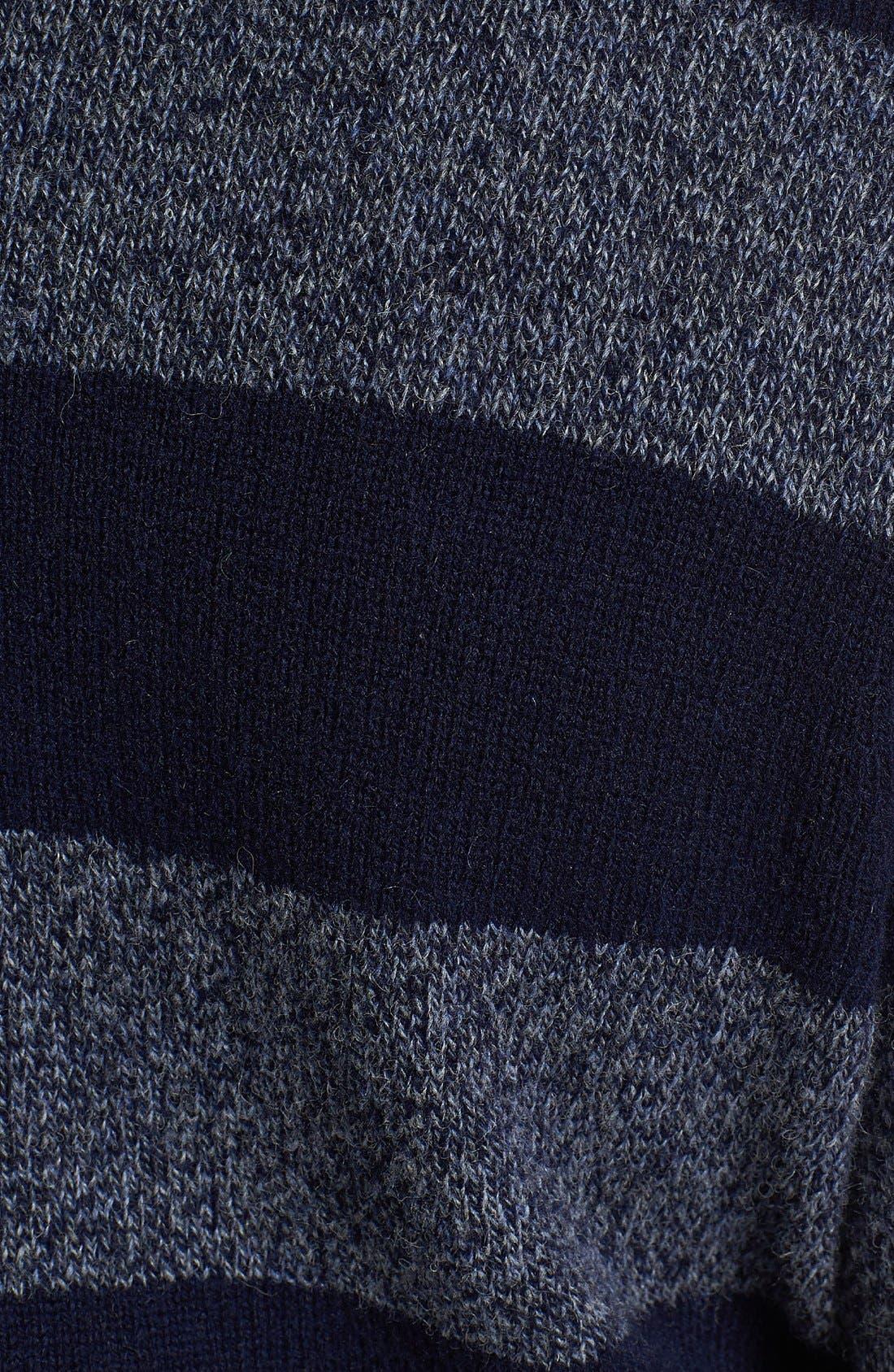 SHIPLEY & HALMOS, 'Earnest' Stripe Wool Shawl Collar Sweater, Alternate thumbnail 3, color, 415