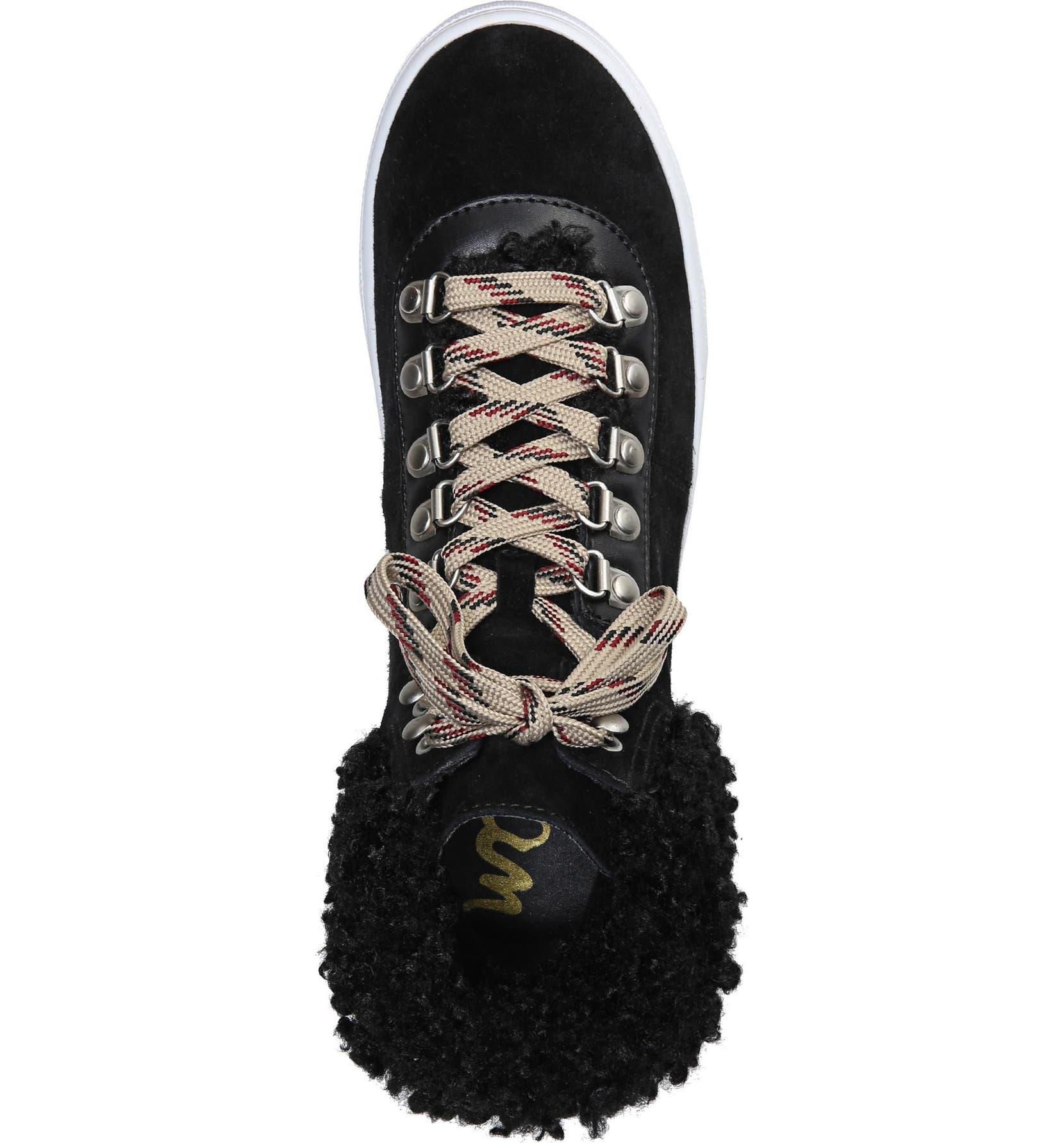 dd2afb3f8c98 Sam Edelman Luther Faux Shearling High Top Sneaker (Women)
