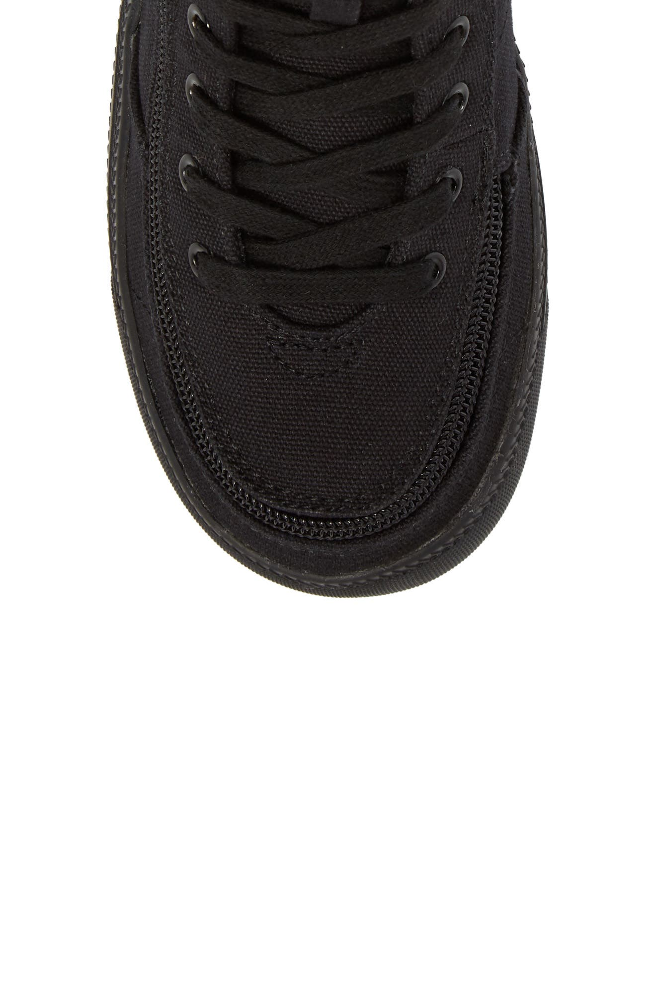 BILLY FOOTWEAR, Classic Hi-Rise Sneaker, Alternate thumbnail 6, color, BLACK TO THE FLOOR
