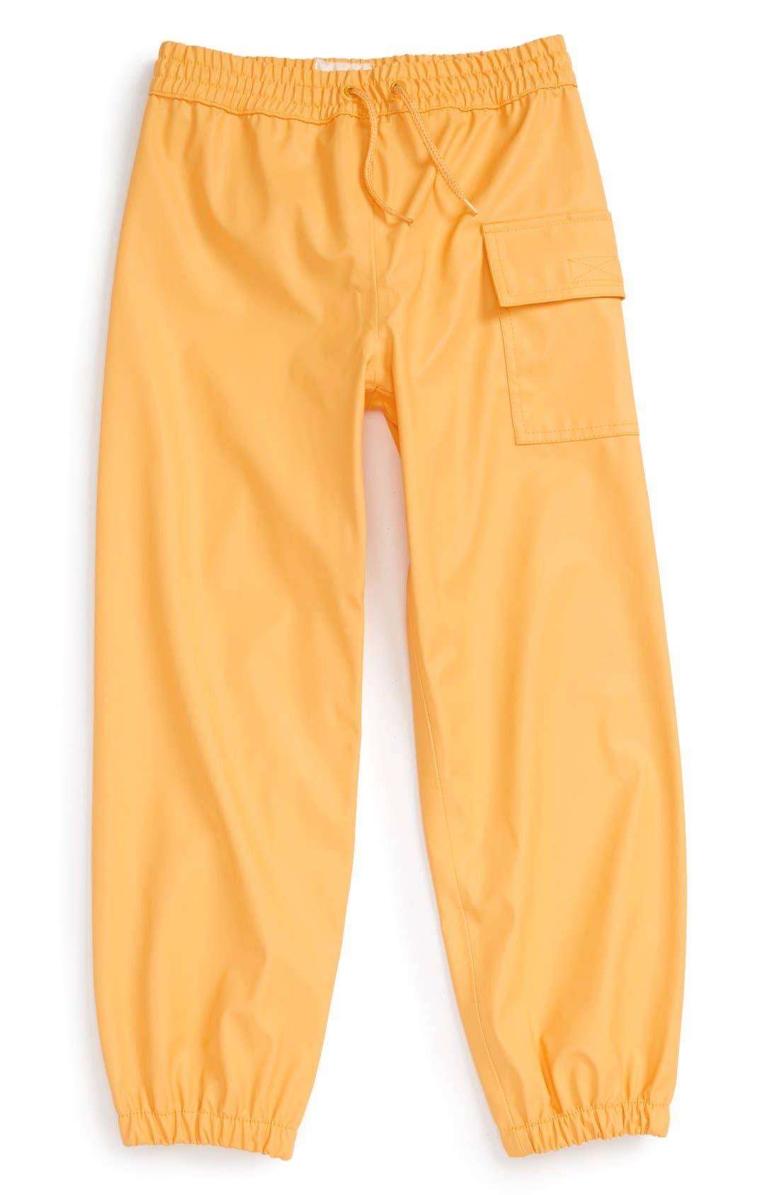 HATLEY 'Splash' Rain Pants, Main, color, YELLOW