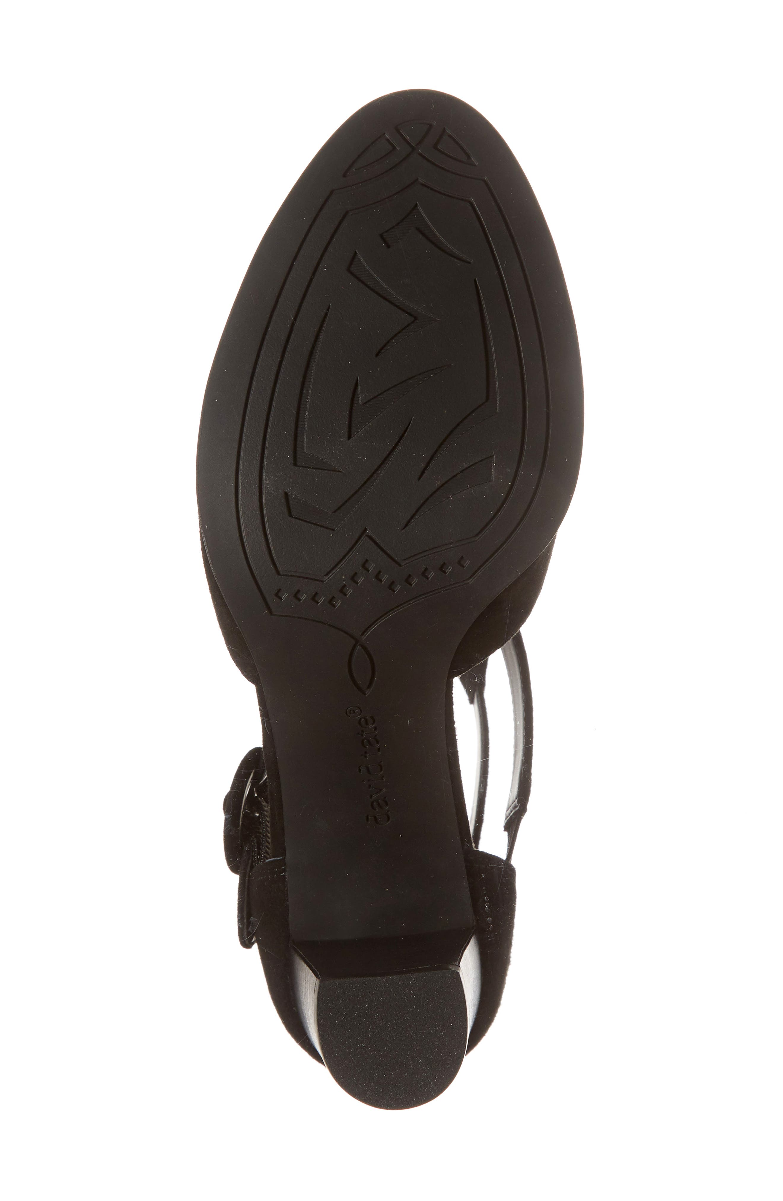 DAVID TATE, Exotic Caged Bootie, Alternate thumbnail 6, color, BLACK SUEDE