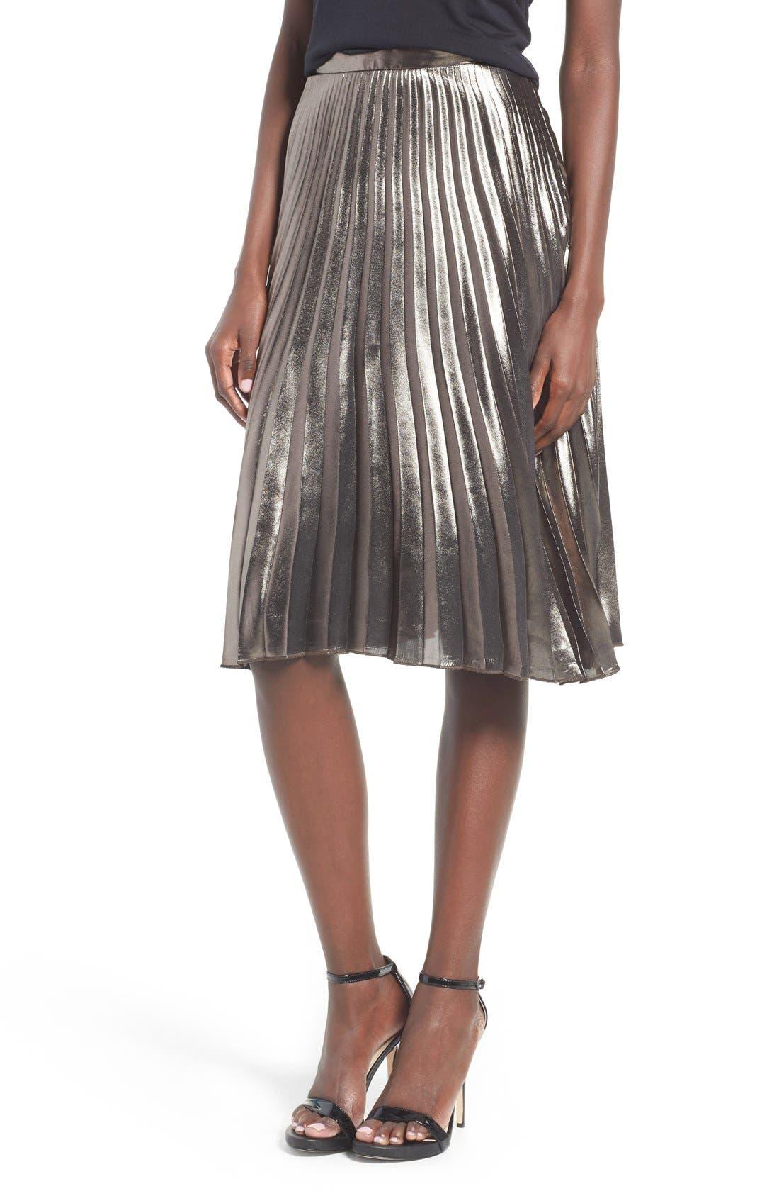 ASTR THE LABEL, ASTR Celeste Pleated Skirt, Main thumbnail 1, color, 224