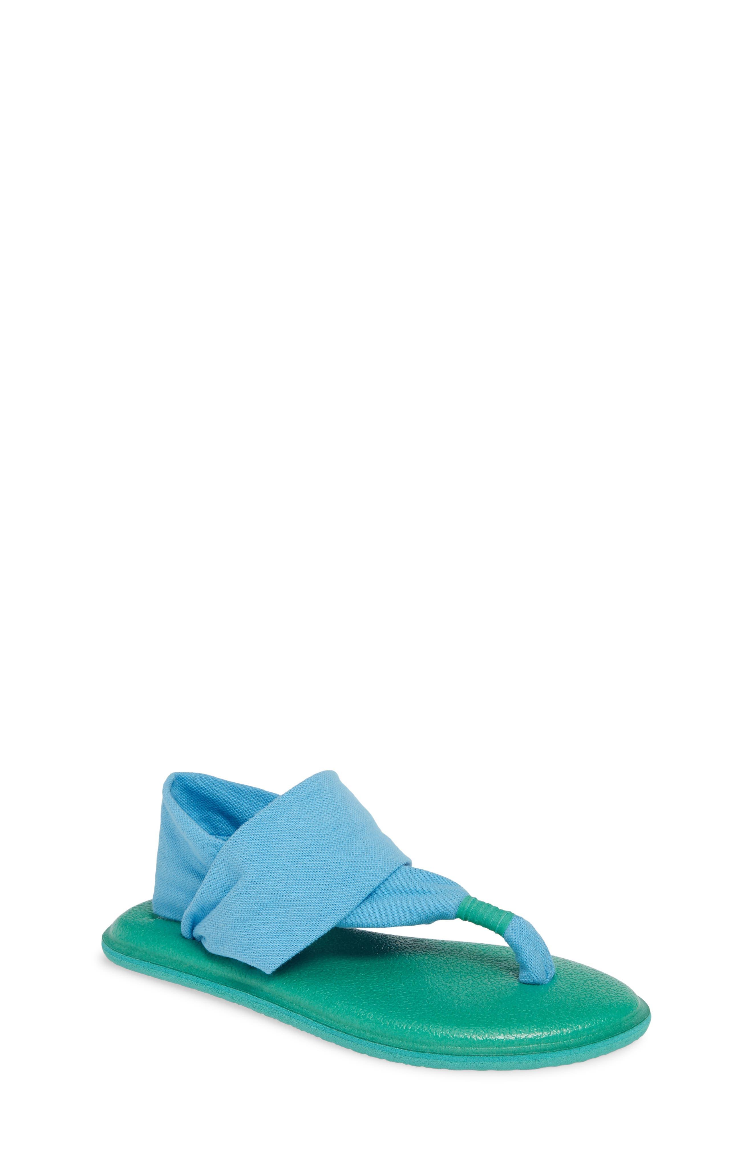 Toddler Girls Sanuk Lil Yoga Sling 2 Sandal Size 1112 M  Blue