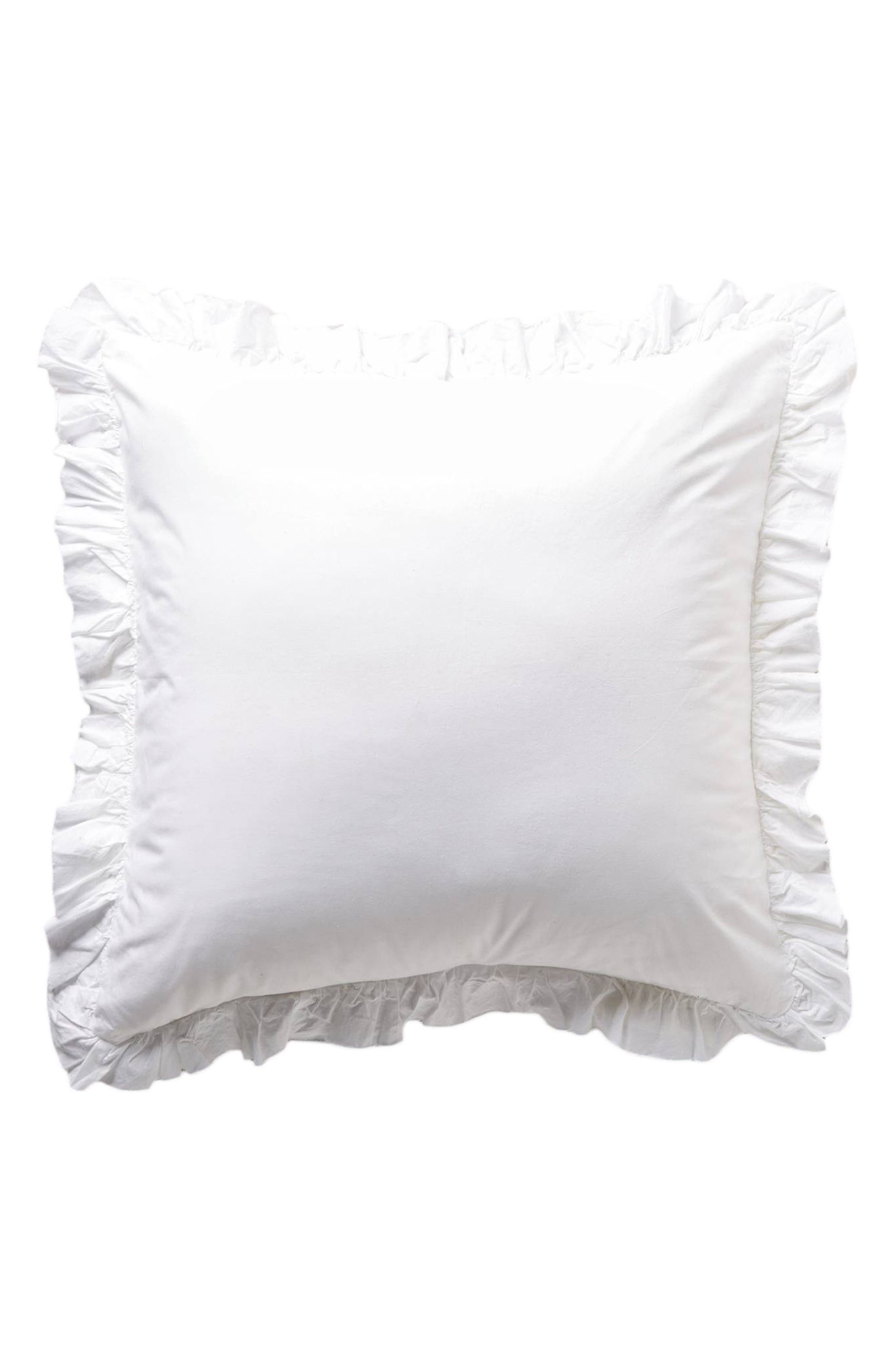 POM POM AT HOME, Madison Euro Sham, Alternate thumbnail 2, color, WHITE