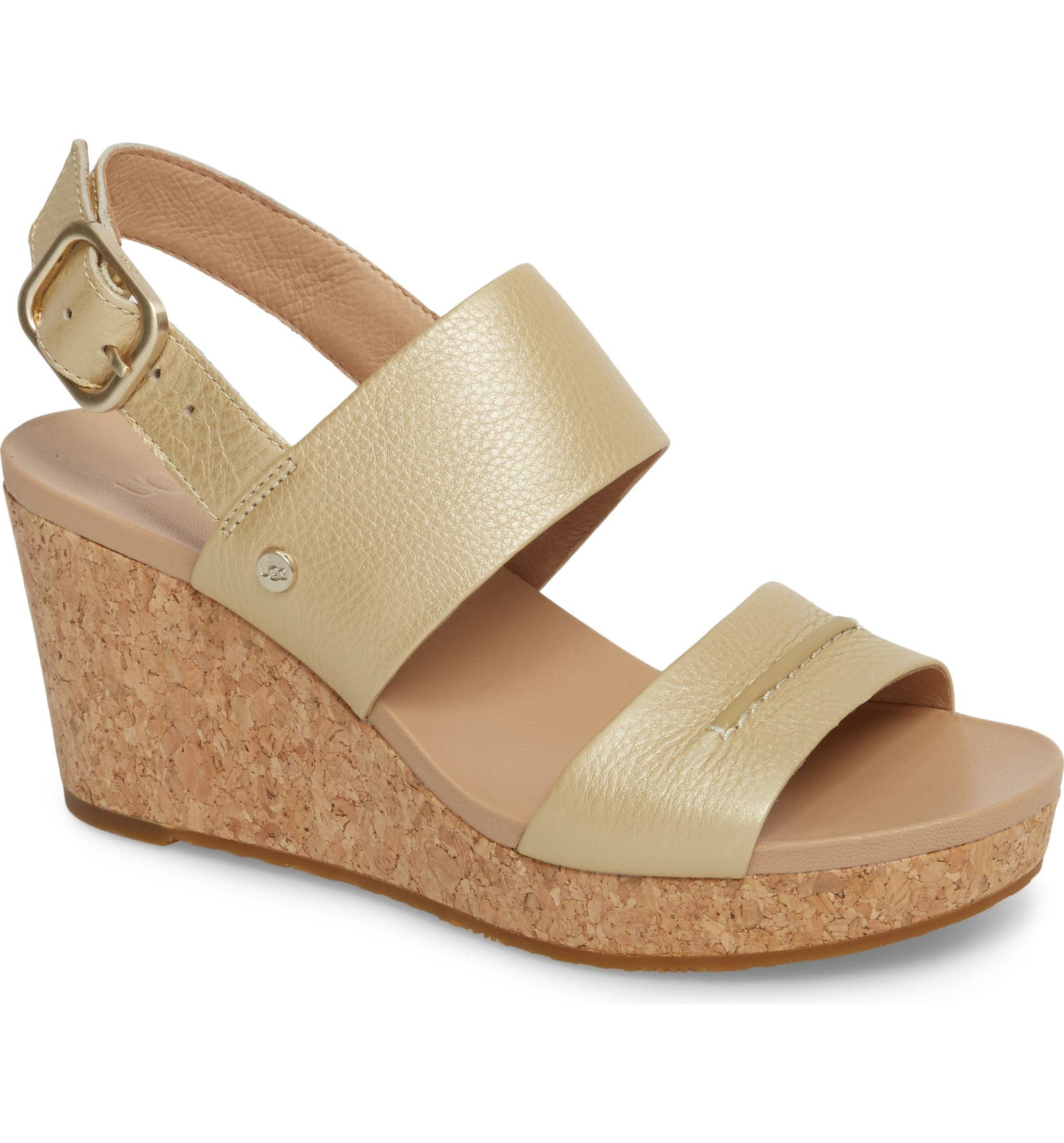 ed23e460f699 UGG® Elena II Metallic Platform Wedge Sandal (Women)