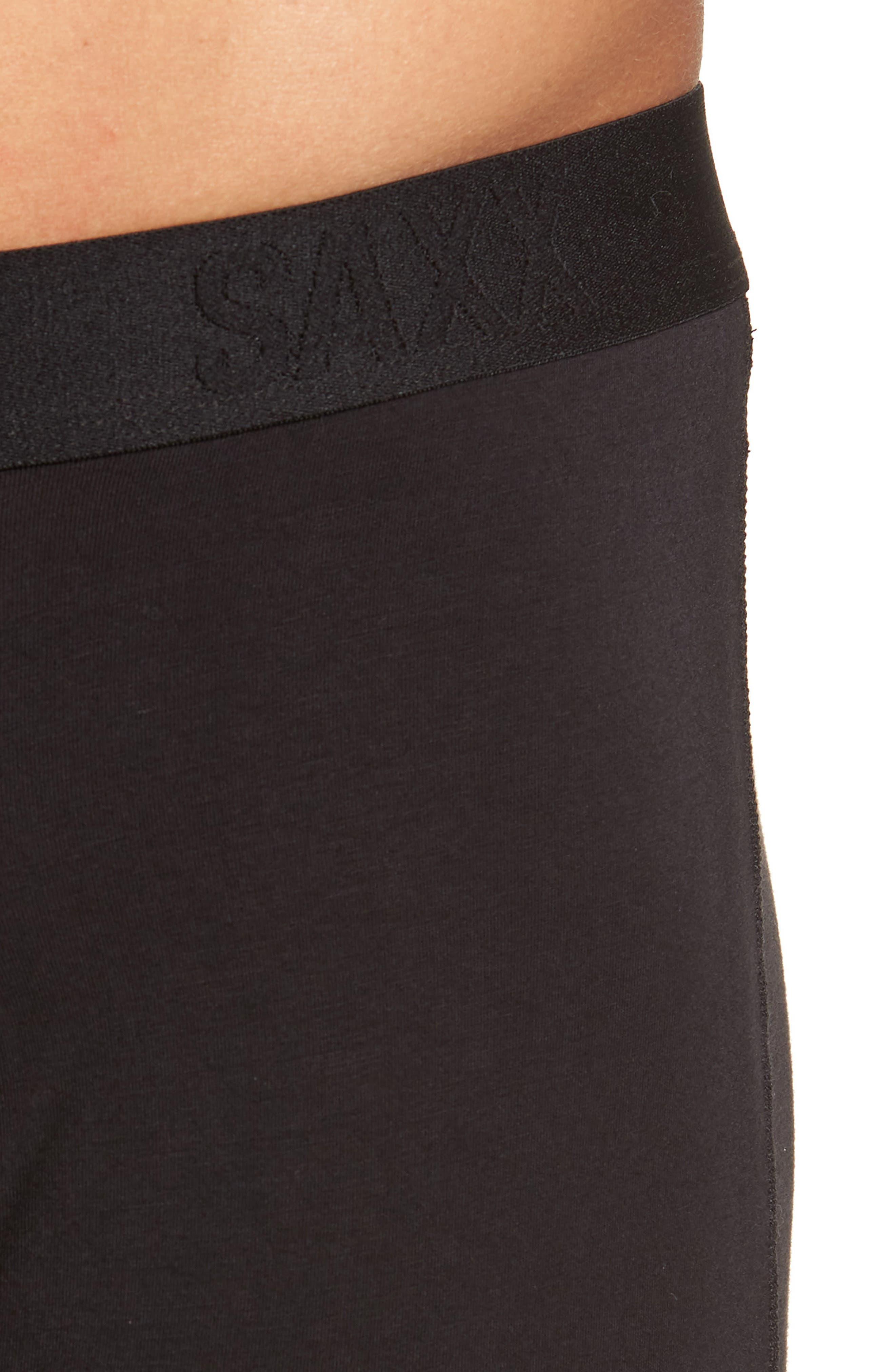 SAXX, 'Ultra' Stretch Boxer Briefs, Alternate thumbnail 4, color, BLACK/ BLACK