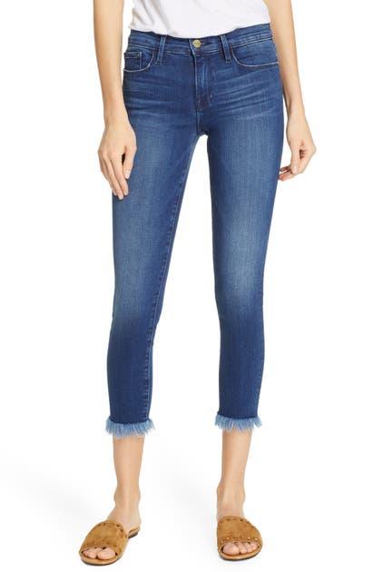 Frame Jeans LE SKINNY DE JEANNE RAW HEM CROP SKINNY JEANS