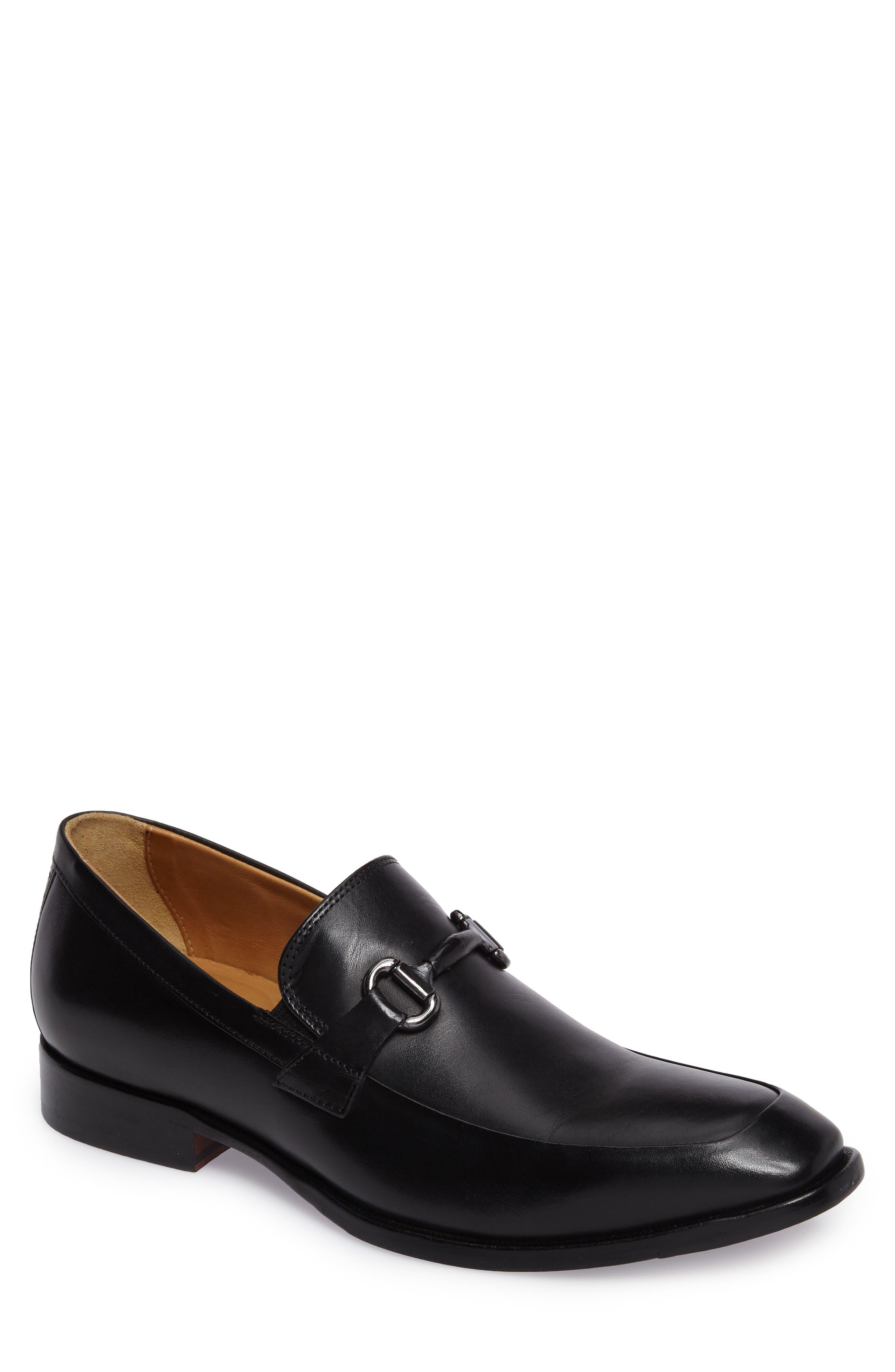 JOHNSTON & MURPHY McClain Bit Loafer, Main, color, BLACK