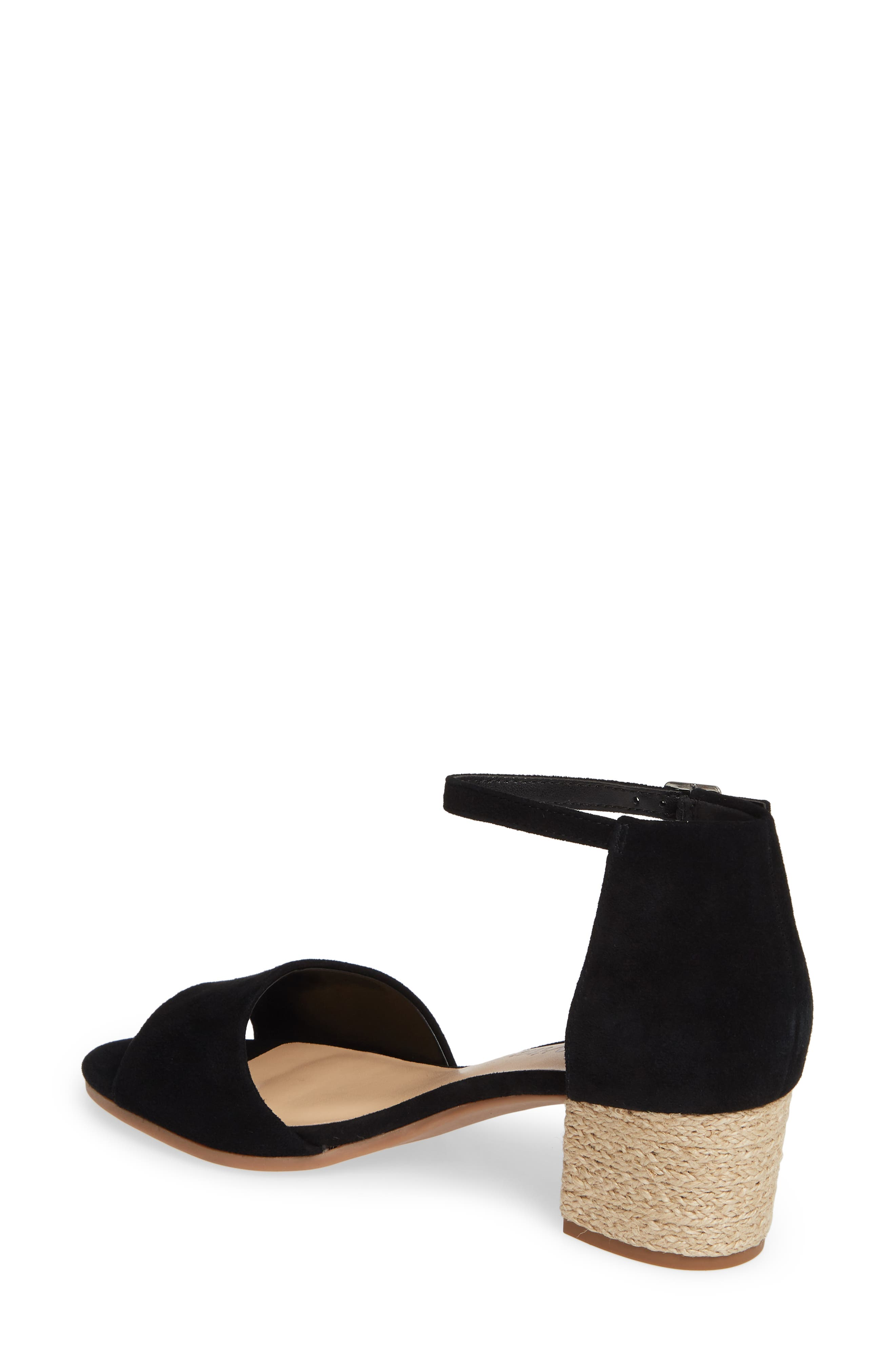 BELLA VITA, Fable Sandal, Alternate thumbnail 2, color, BLACK SUEDE