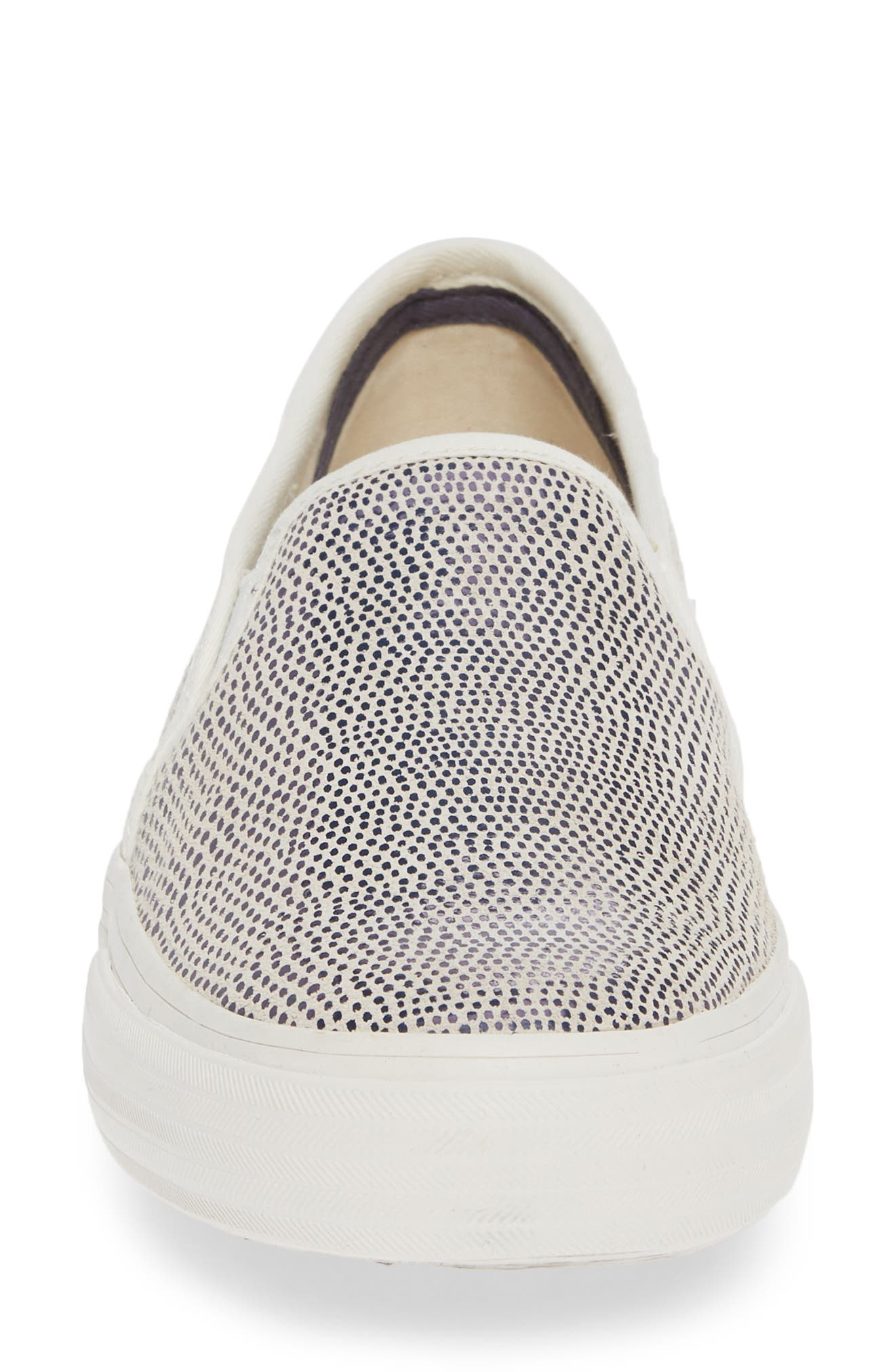 KEDS<SUP>®</SUP>, Double Decker Slip-On Sneaker, Alternate thumbnail 4, color, BLUE