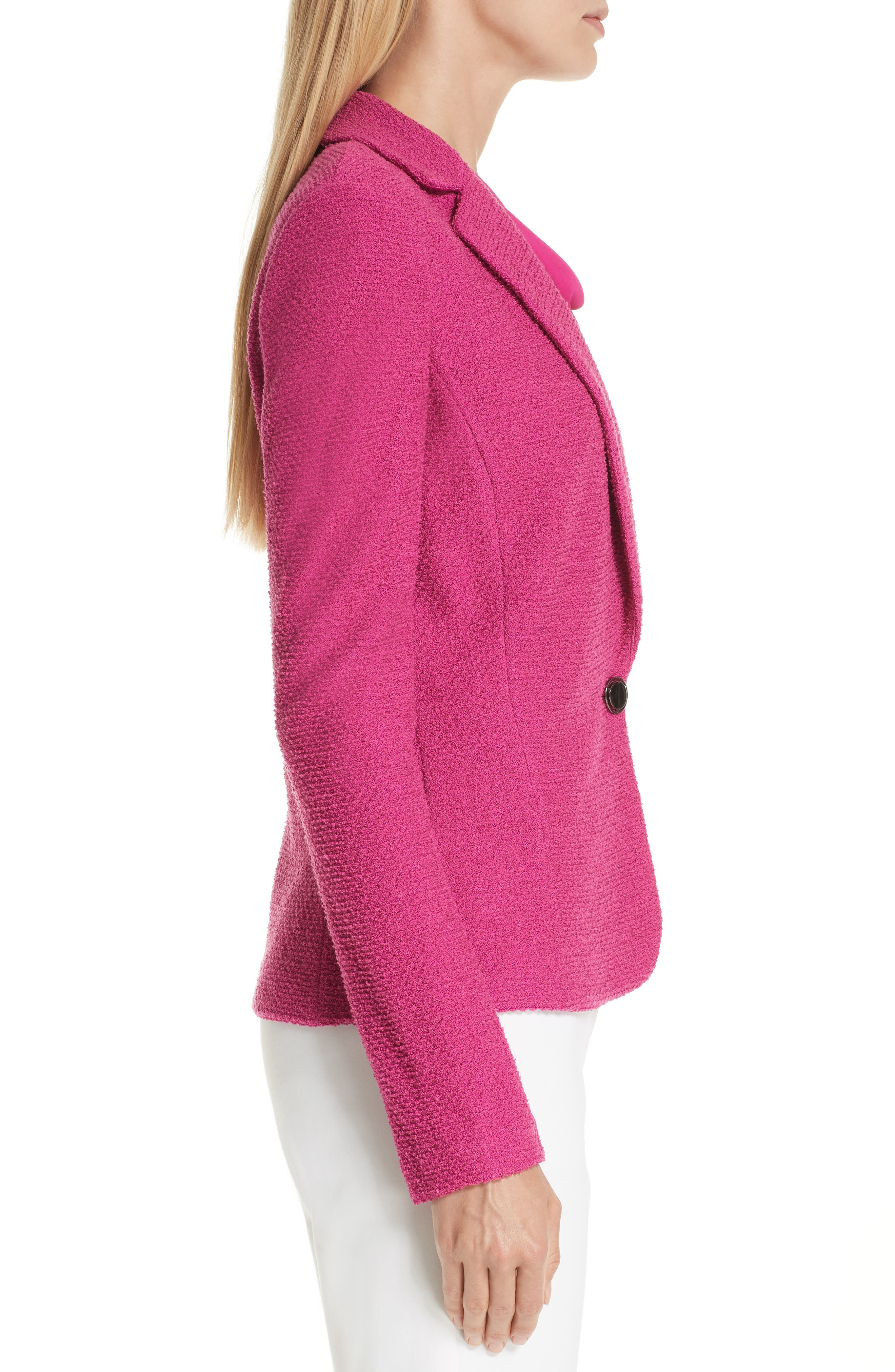 ST. JOHN COLLECTION, Refined Knit Jacket, Alternate thumbnail 4, color, CAMELLIA