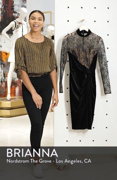 T by Tadashi Lace & Velvet Sheath Dress, sales video thumbnail