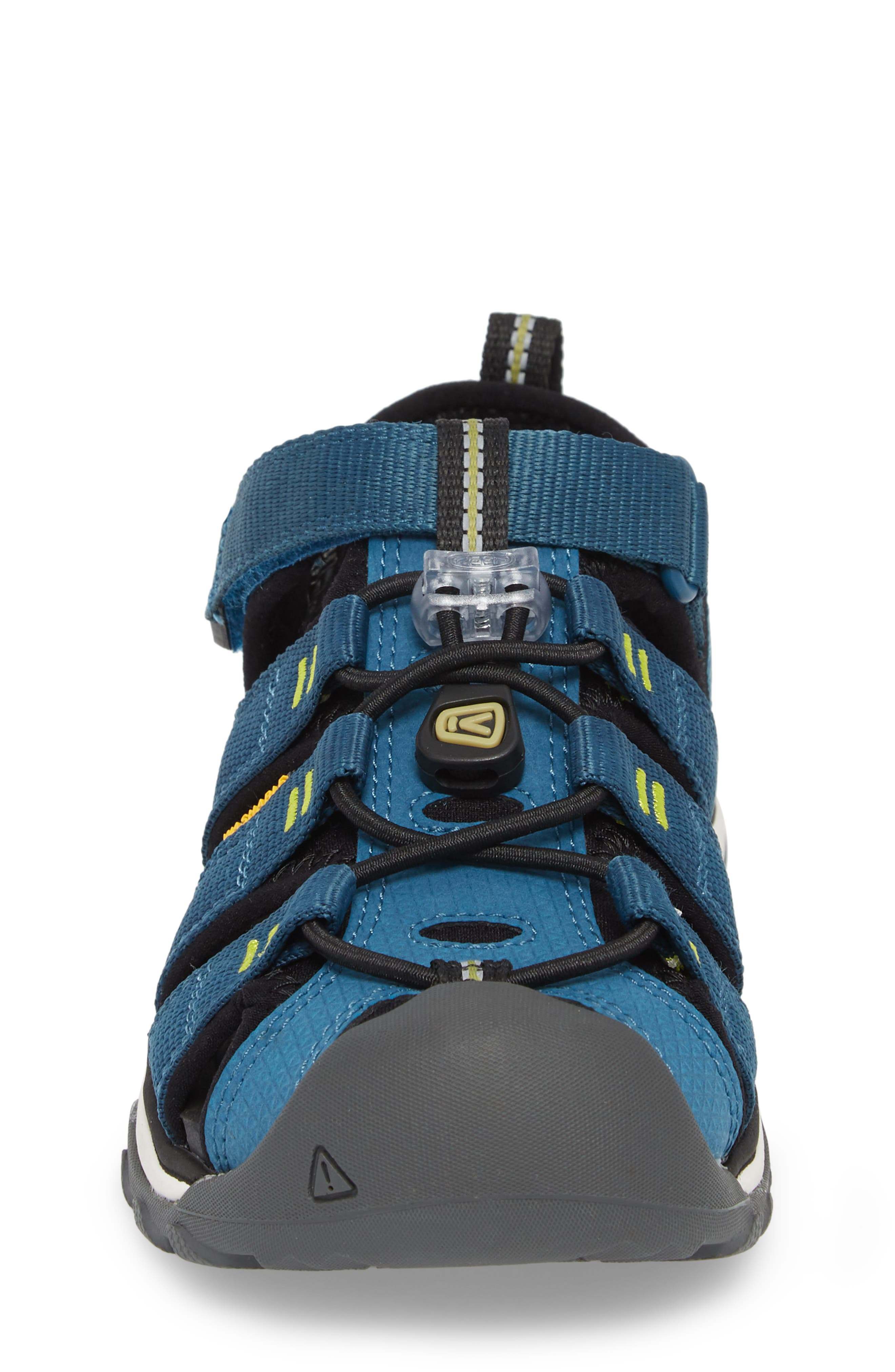 KEEN, Newport Neo H2 Water Friendly Sandal, Alternate thumbnail 4, color, LEGION BLUE/ MOSS