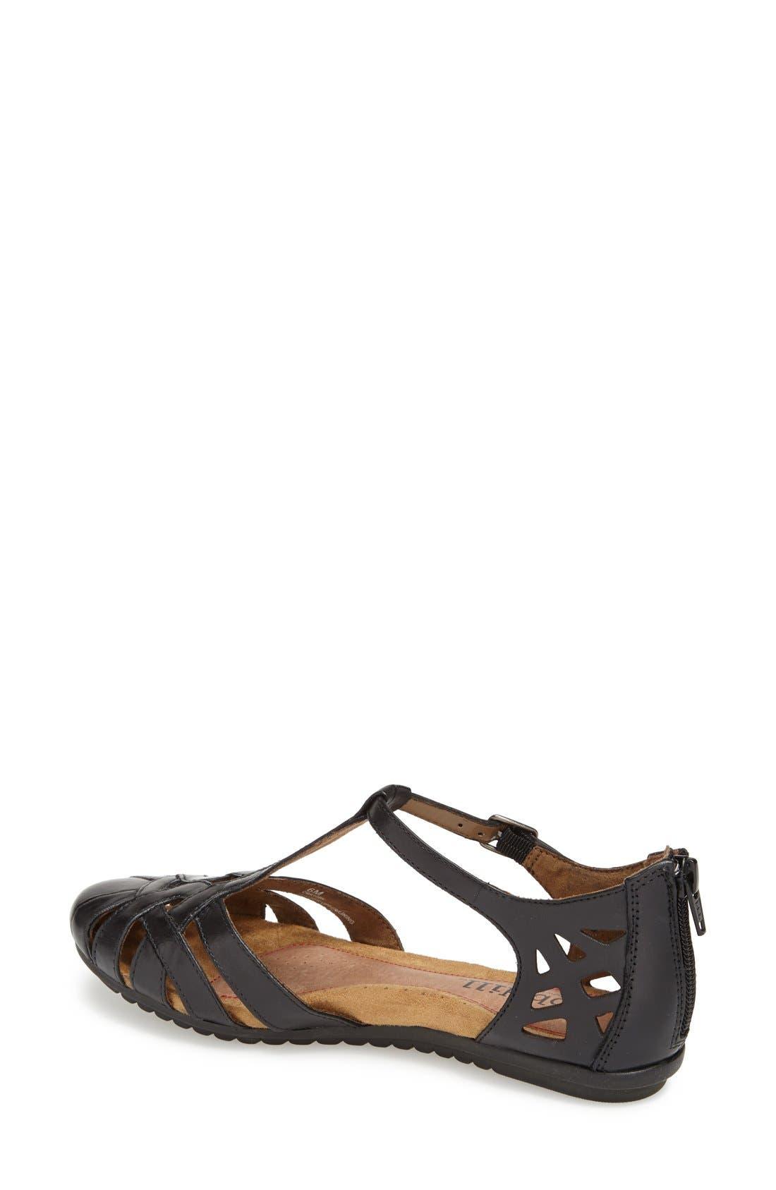 ROCKPORT COBB HILL, 'Ireland' Leather Sandal, Alternate thumbnail 3, color, BLACK