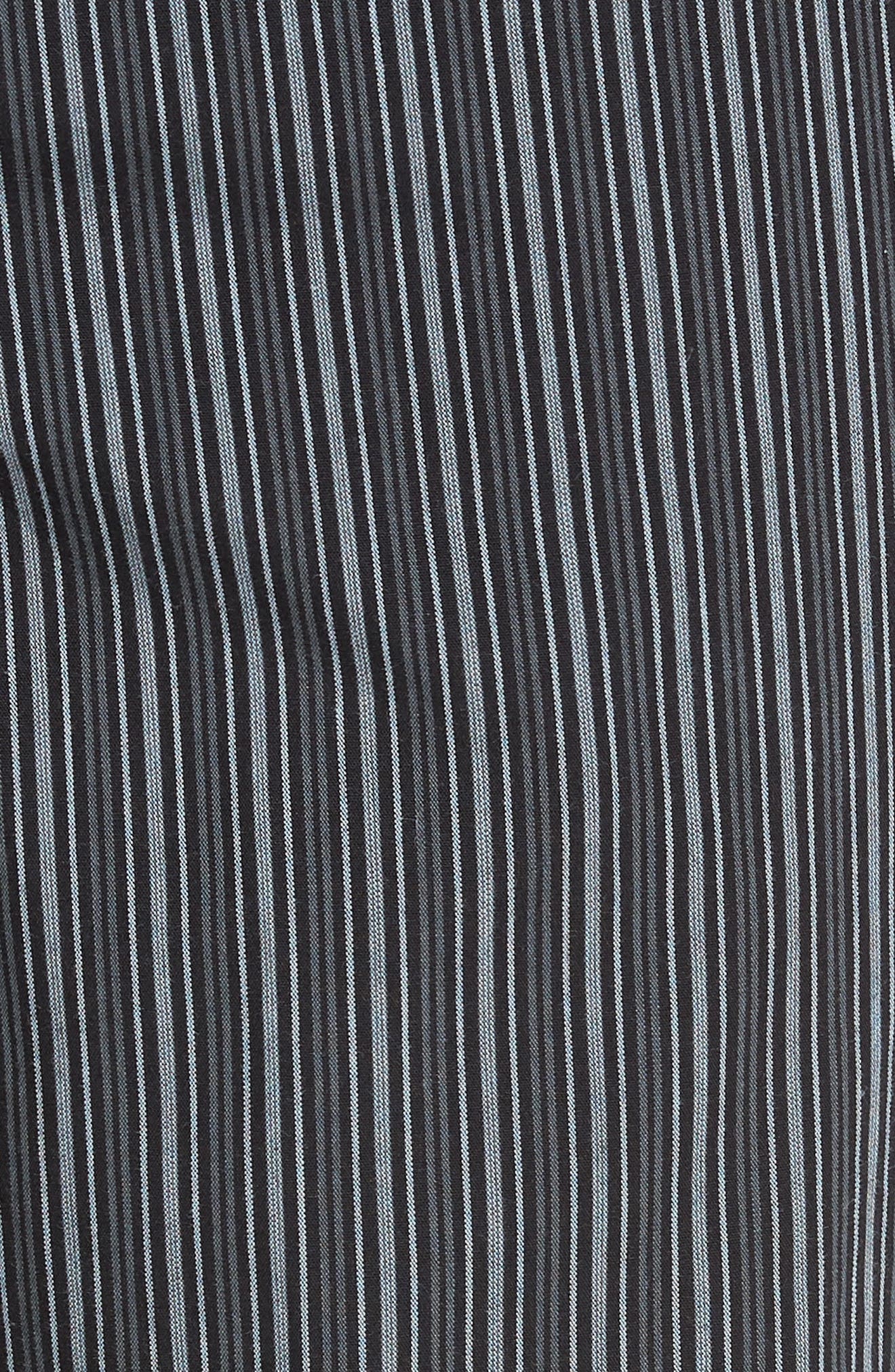 NORDSTROM MEN'S SHOP, Poplin Pajama Pants, Alternate thumbnail 5, color, GREY- BLACK STRIPE