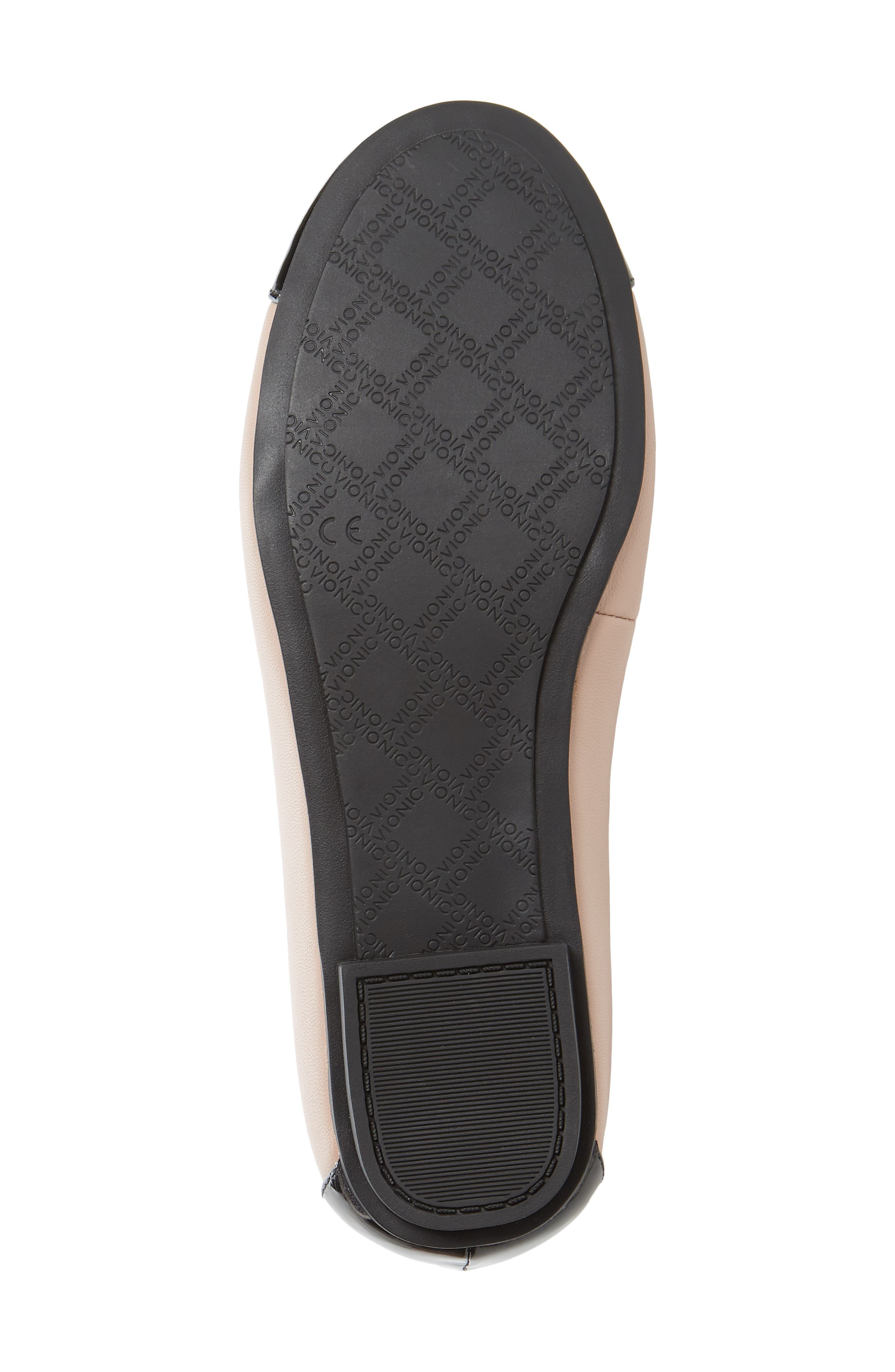 VIONIC, 'Minna' Leather Flat, Alternate thumbnail 6, color, BLUSH LEATHER