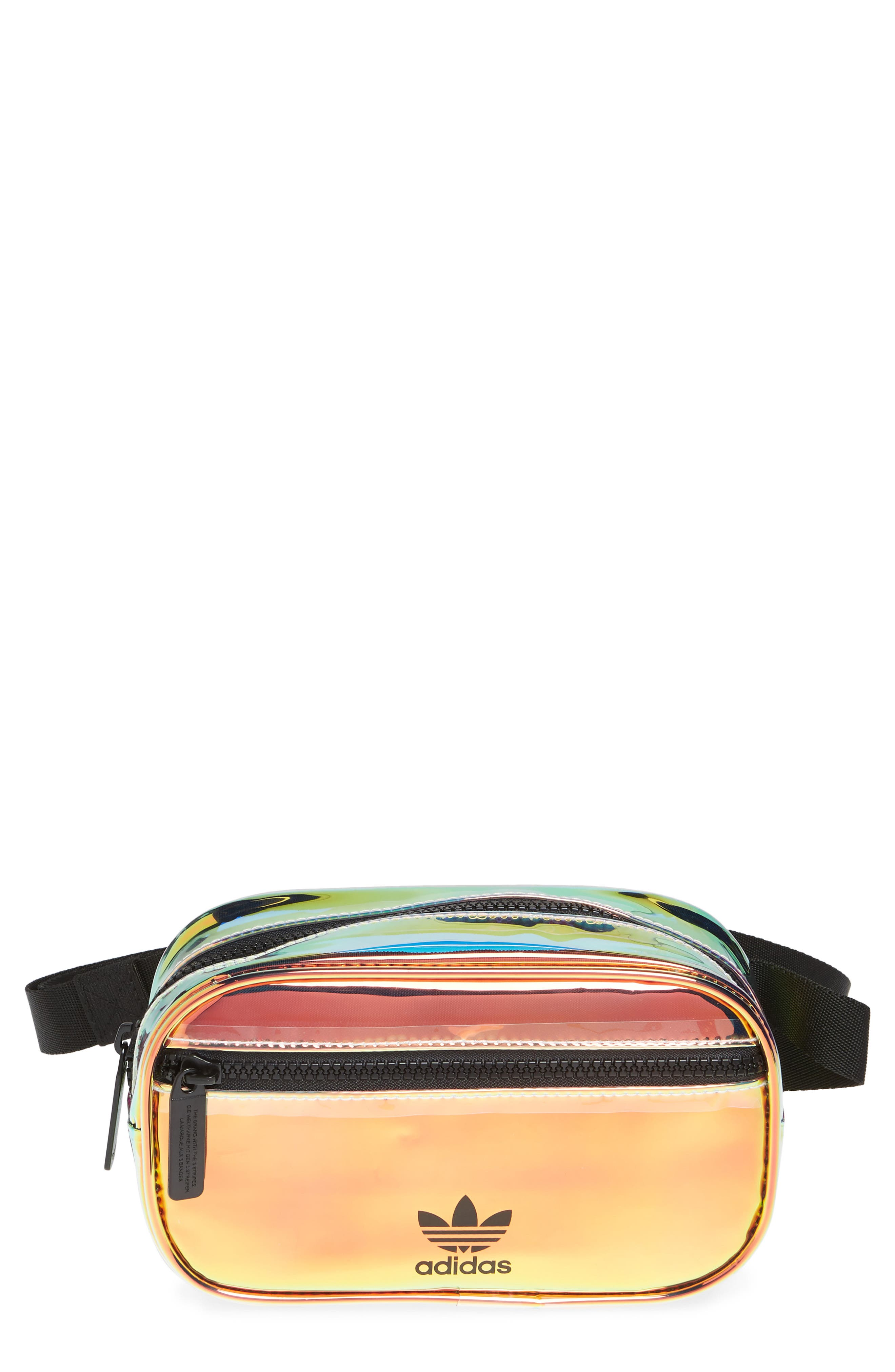 ADIDAS Ori Holographic Clear Belt Bag, Main, color, 100