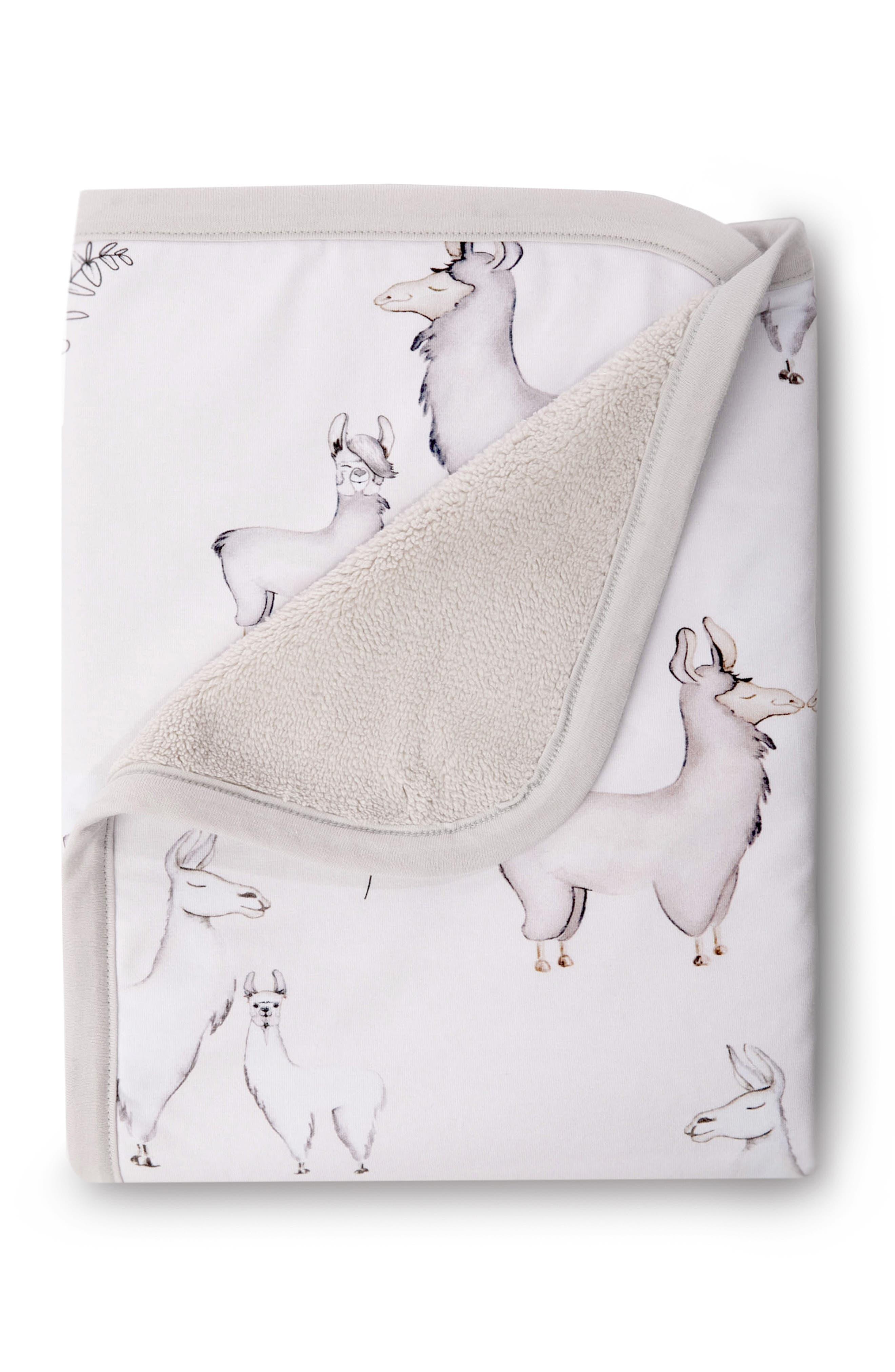 OILO Llama Jersey Cuddle Blanket, Main, color, LLAMA