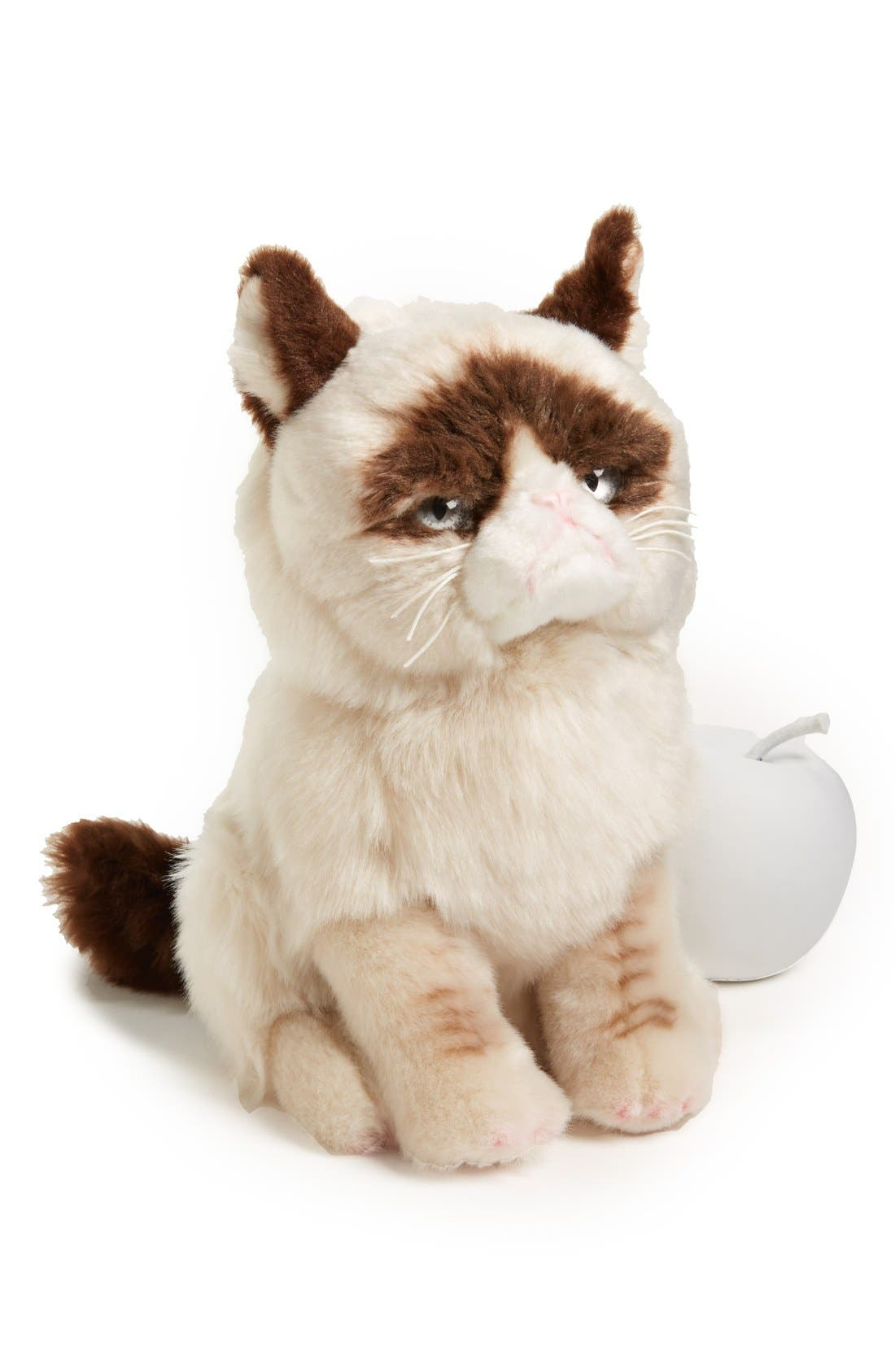 GUND, 'Grumpy Cat' Stuffed Animal, Main thumbnail 1, color, 000