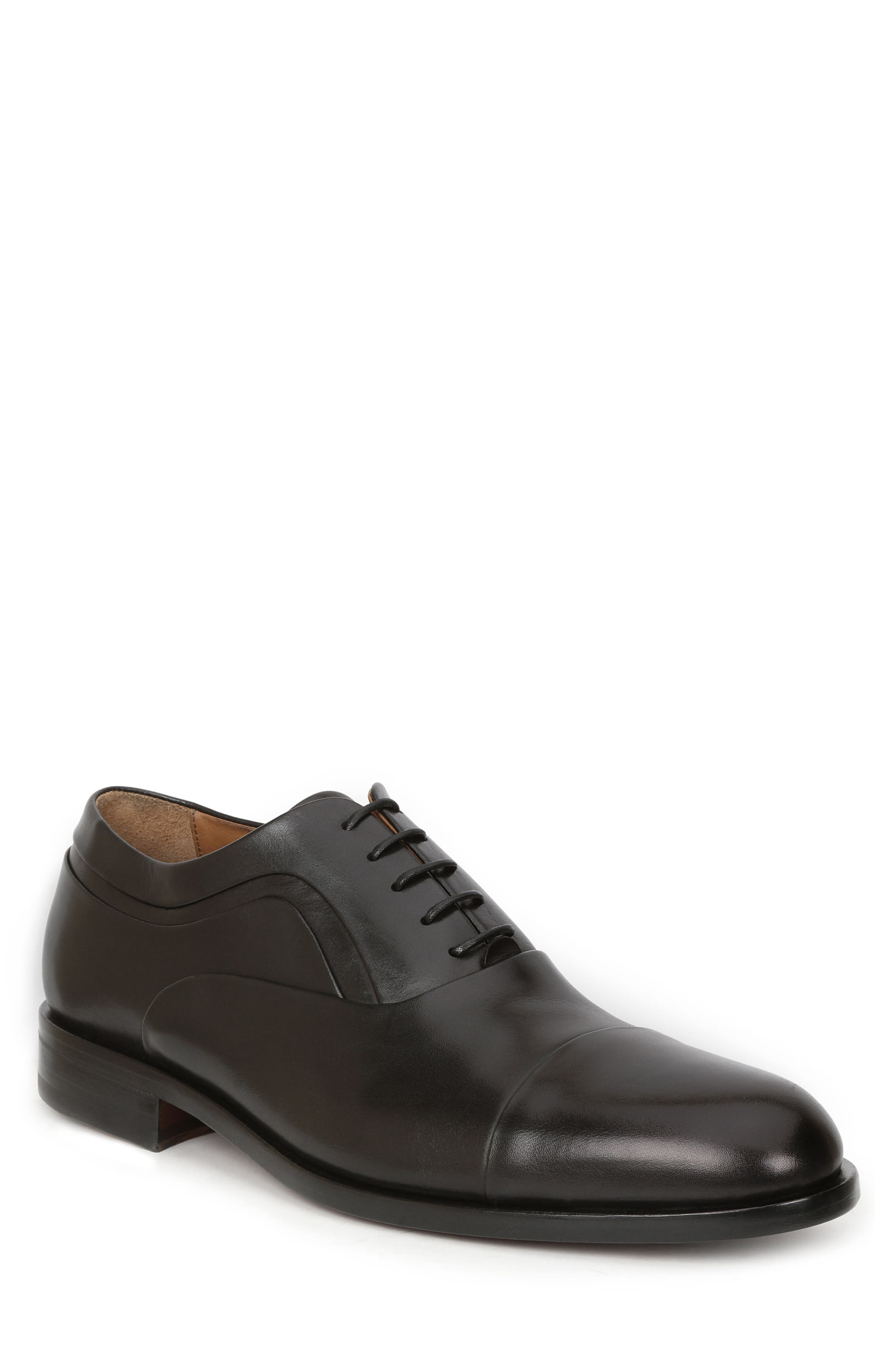 BRUNO MAGLI Sassiolo Cap Toe Oxford, Main, color, BLACK