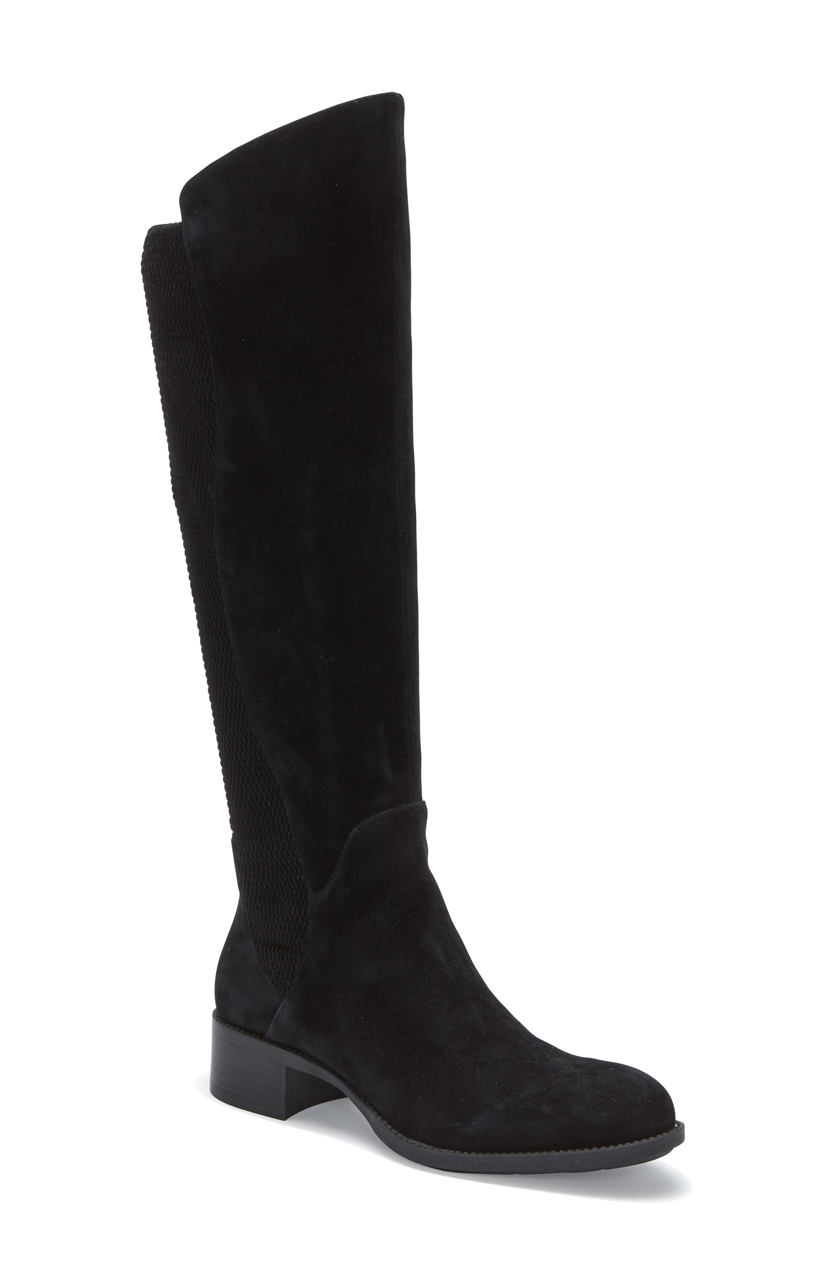 ME TOO, Striker Boot, Main thumbnail 1, color, BLACK SUEDE