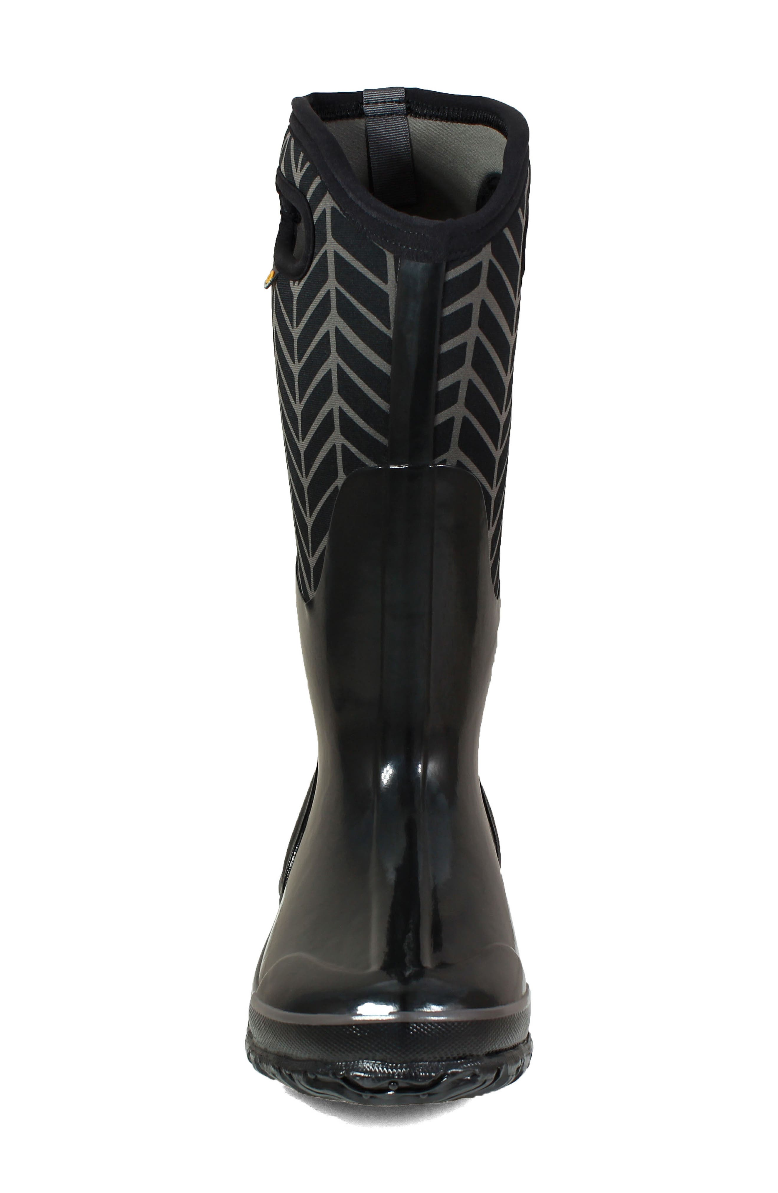 BOGS, Classic Tall Badge Waterproof Snow Boot, Alternate thumbnail 4, color, 009