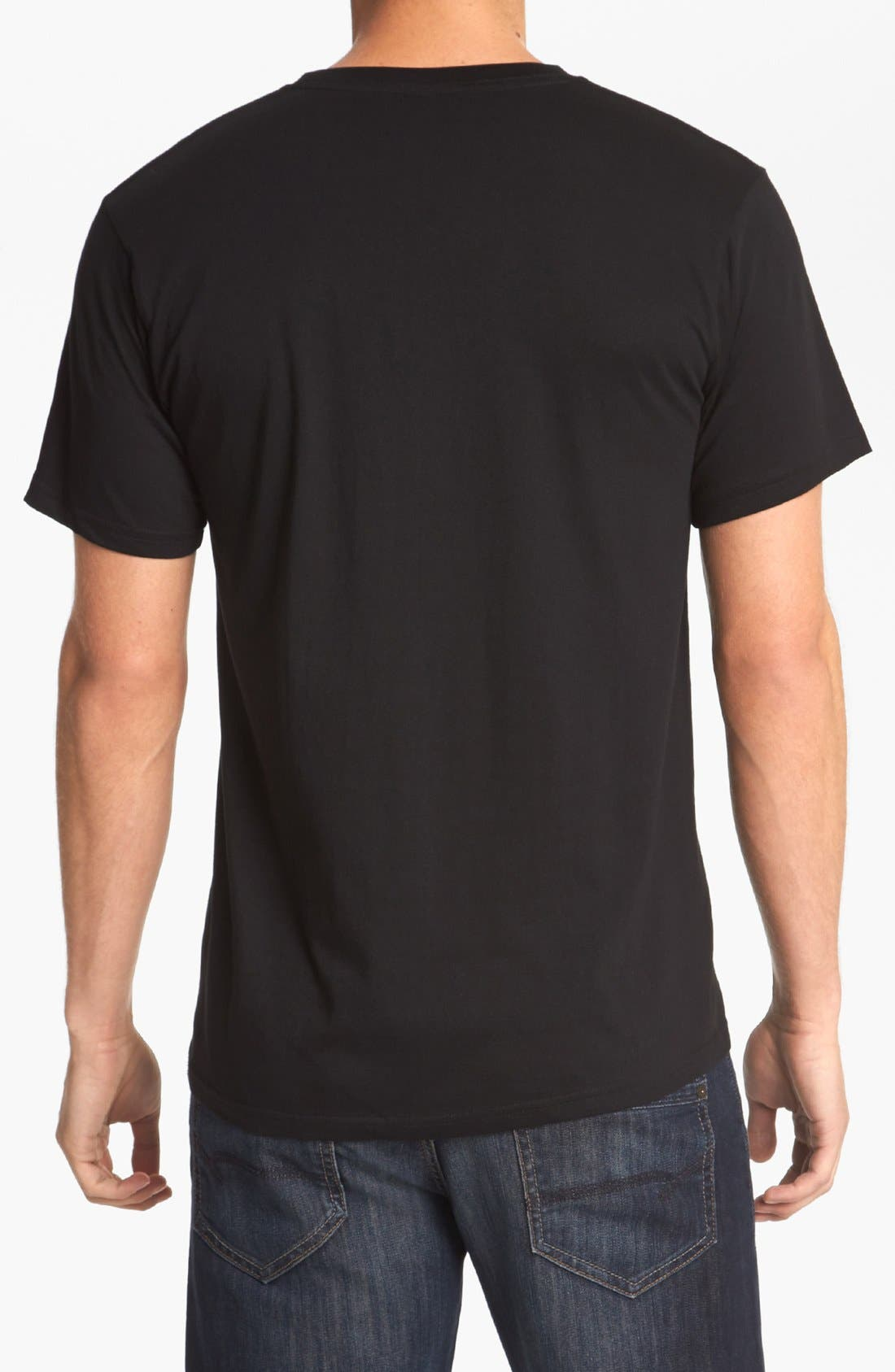 HORSES CUT SHOP, 'Hole In The Wall' T-Shirt, Alternate thumbnail 2, color, 001