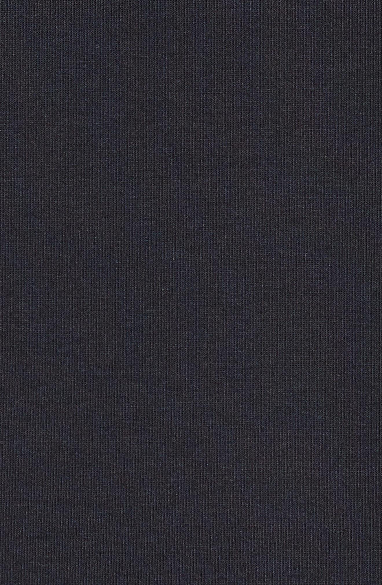 ZELLA, Blocked Performance Zip Hoodie, Alternate thumbnail 6, color, BLACK