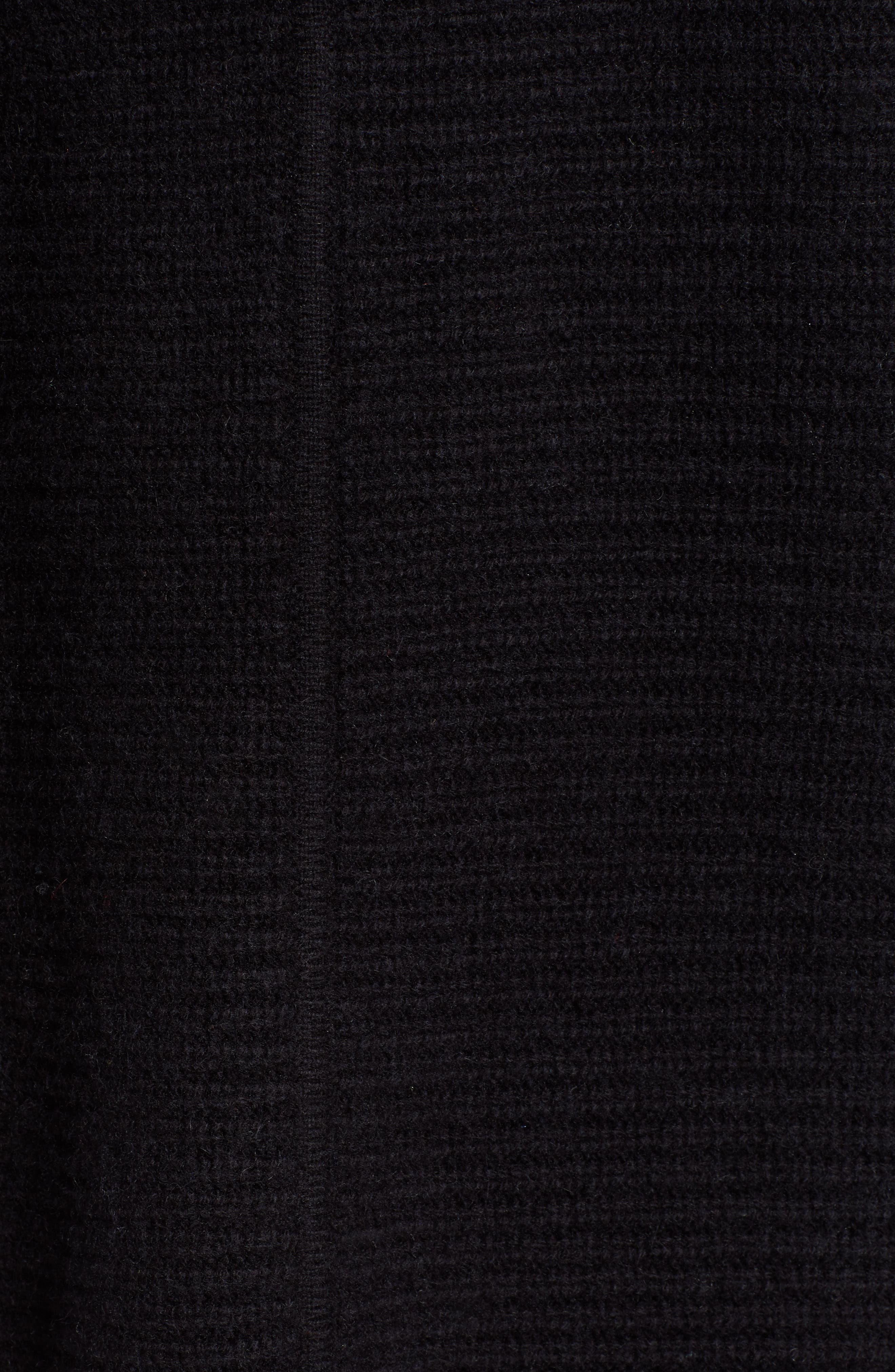 HALOGEN<SUP>®</SUP>, Hooded Wool & Cashmere Cardigan, Alternate thumbnail 5, color, 001