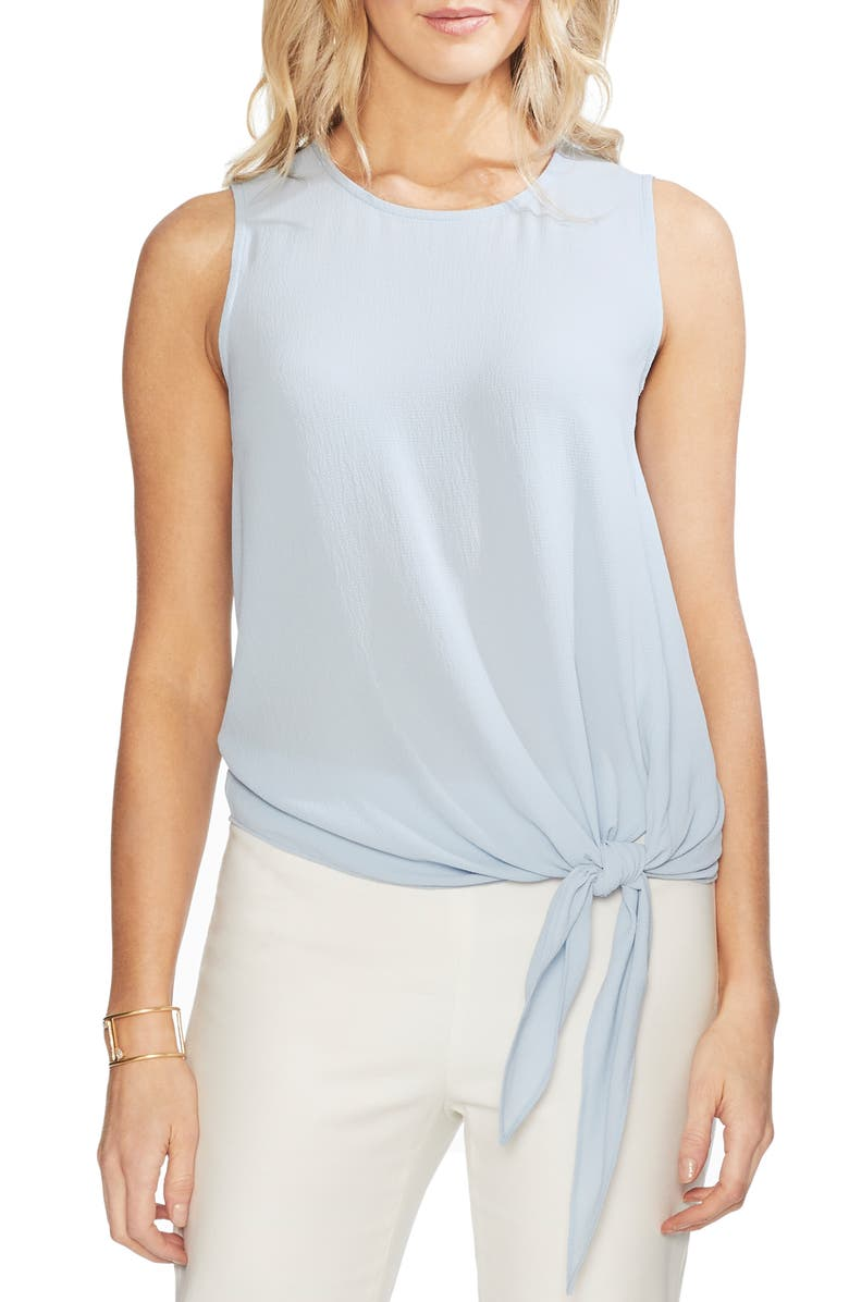 Vince Camuto Tops SLEEVELESS TIE FRONT BLOUSE