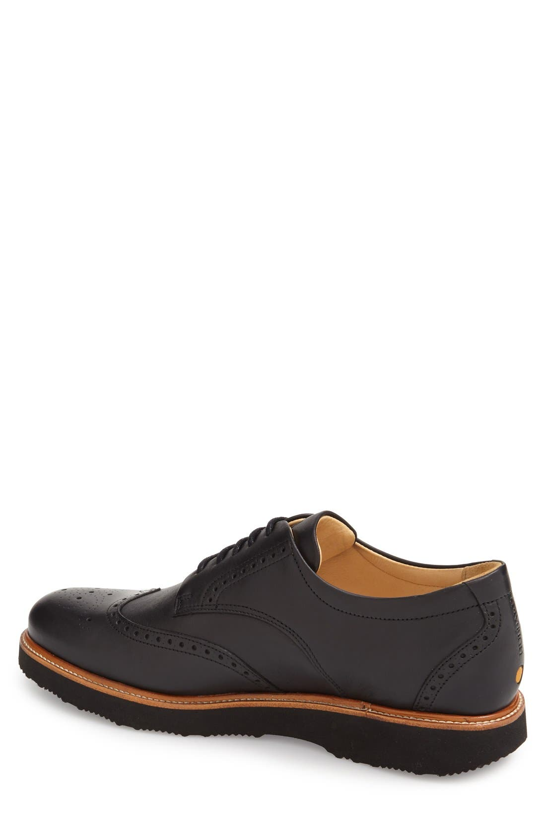SAMUEL HUBBARD, 'Tipping Point' Wingtip Oxford, Alternate thumbnail 4, color, BLACK