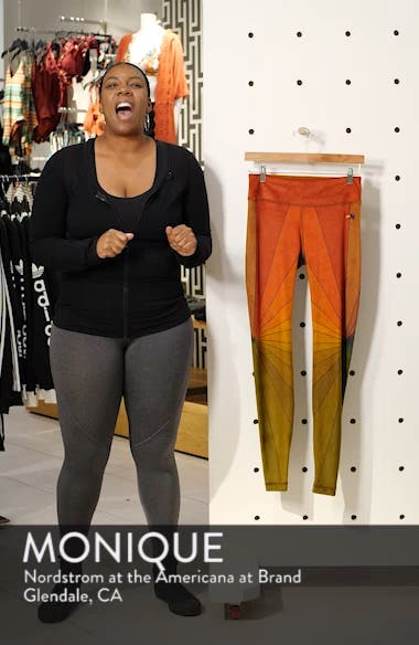 Rainbow Sunburst Velour Leggings, sales video thumbnail