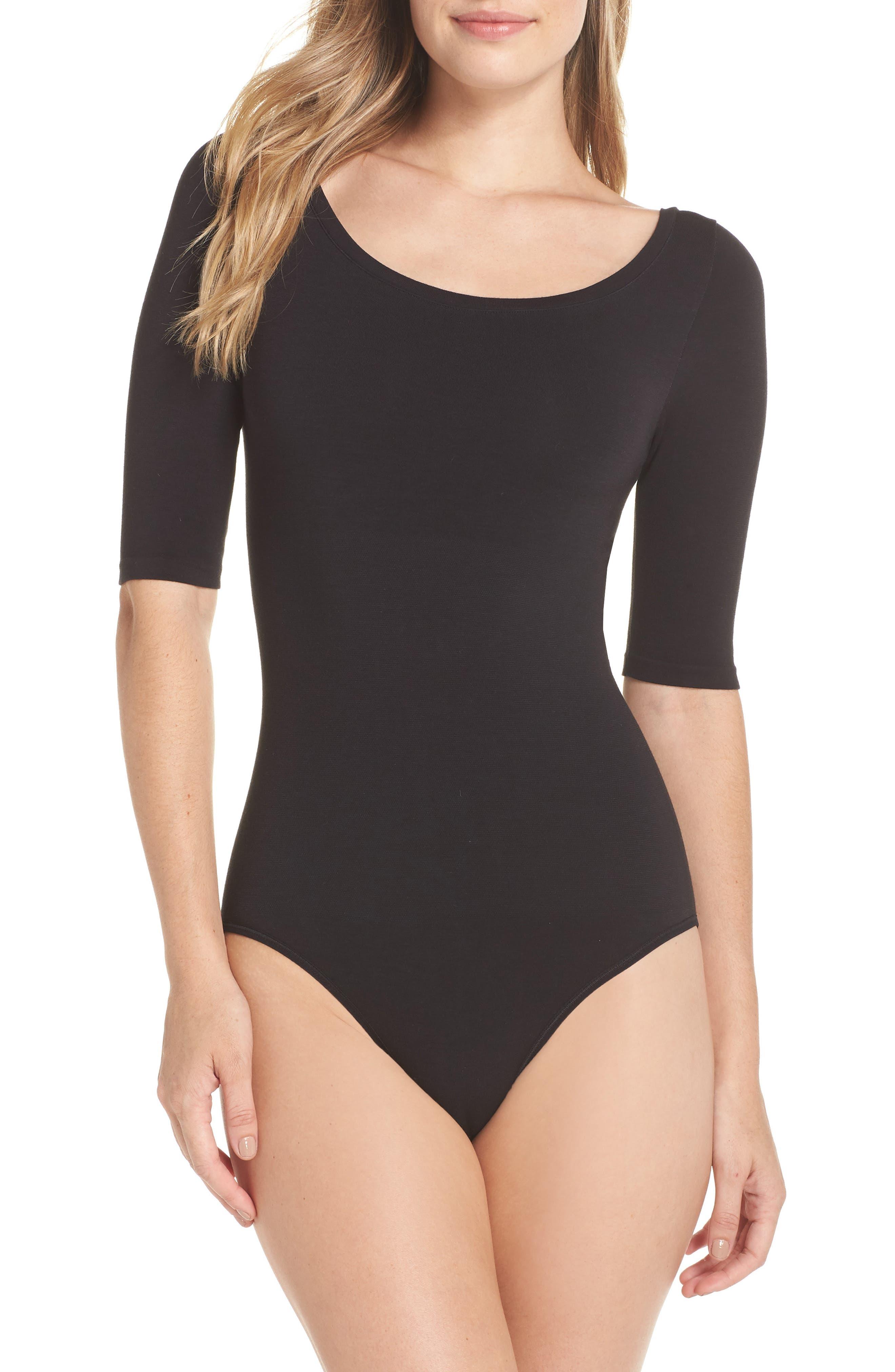 YUMMIE, Ballet Bodysuit, Main thumbnail 1, color, BLACK