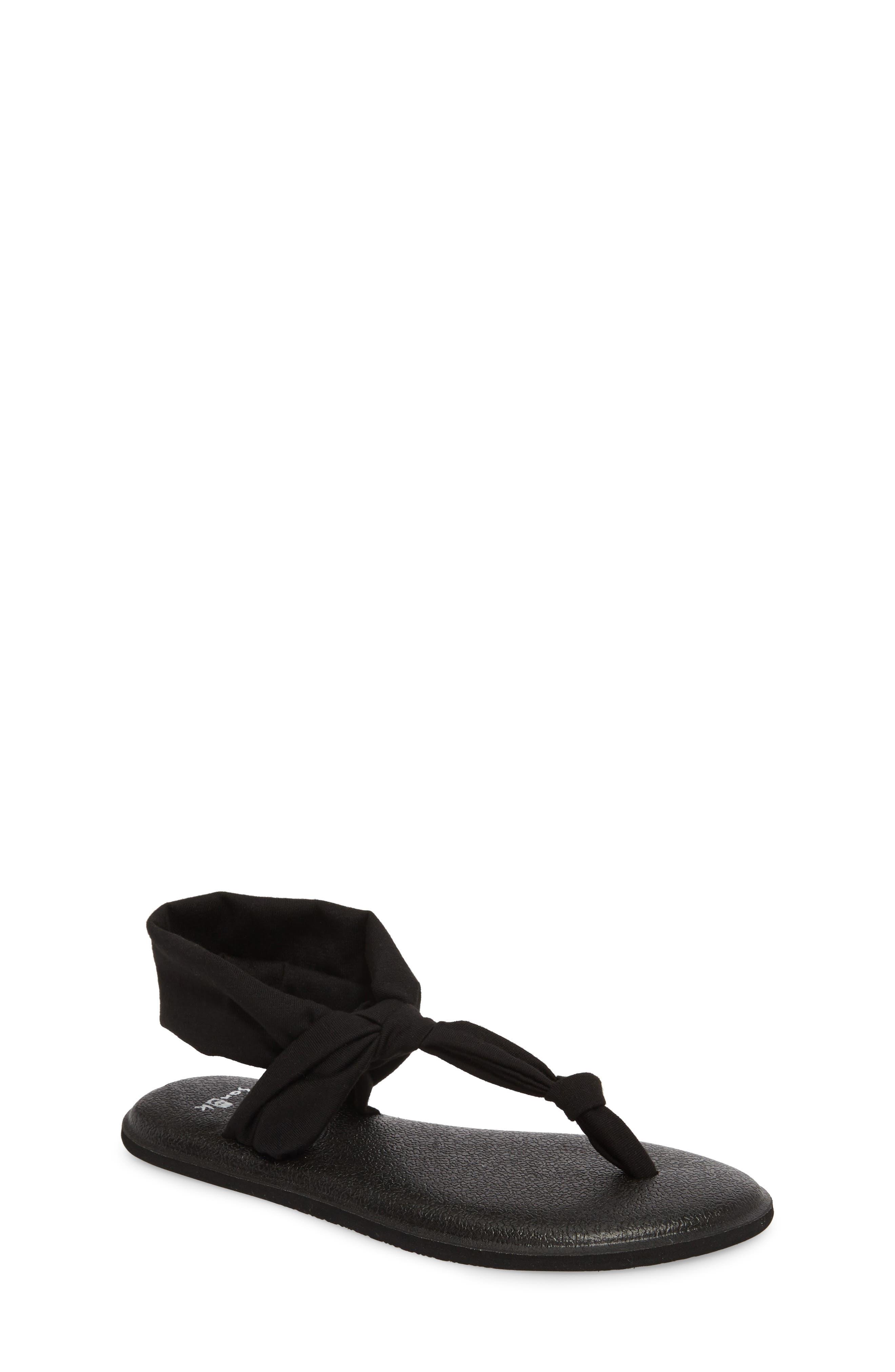 SANUK Yoga Sling Ella Sandal, Main, color, BLACK
