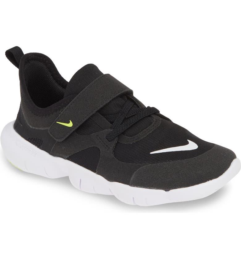 super popular d11b2 c45d2 NIKE Free Run 5.0 Sneaker, Main, color, BLACK  WHITE-ANTHRACITE-