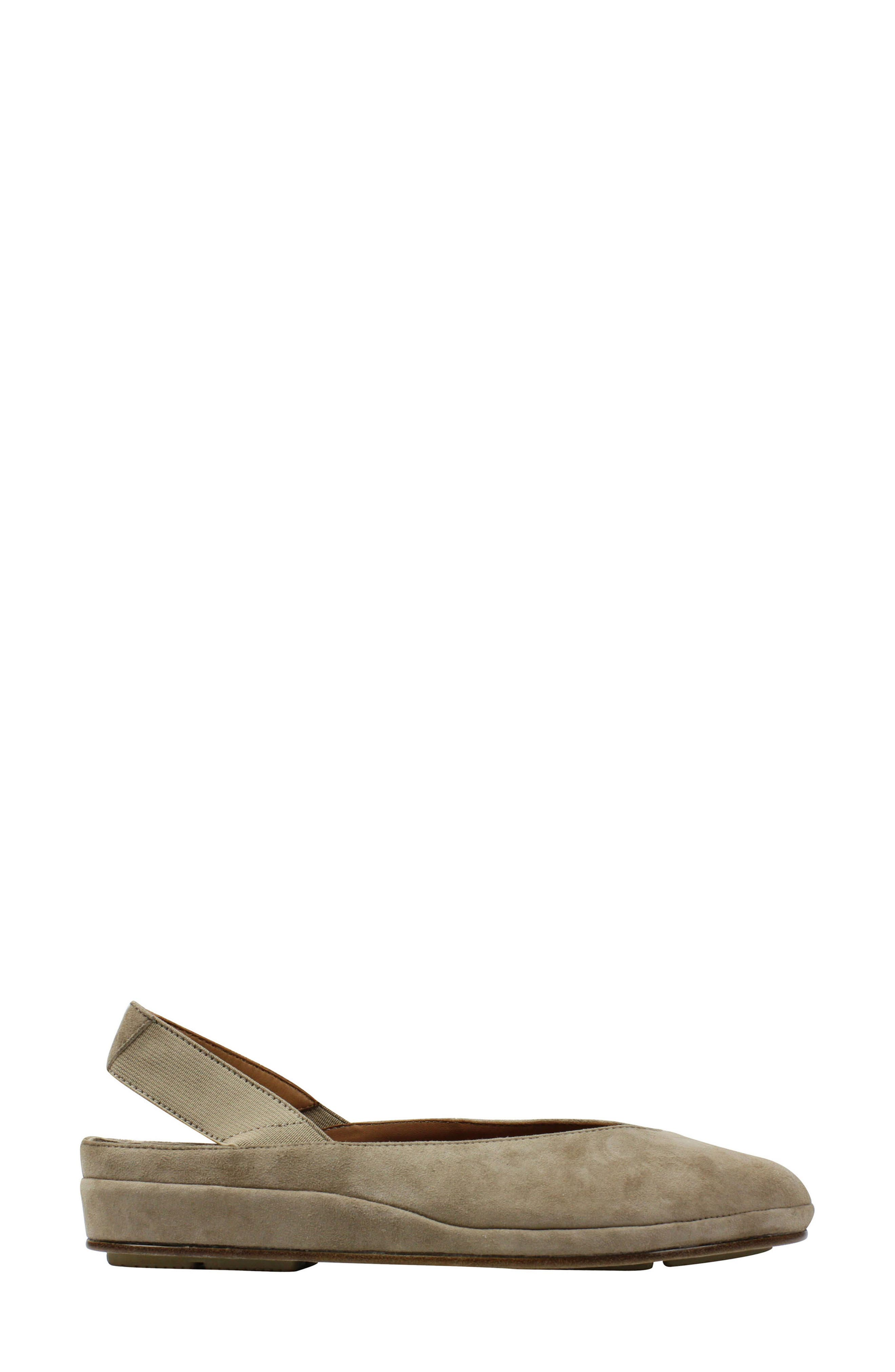 L'AMOUR DES PIEDS, 'Cypris' Slingback Wedge, Alternate thumbnail 2, color, TAUPE SUEDE
