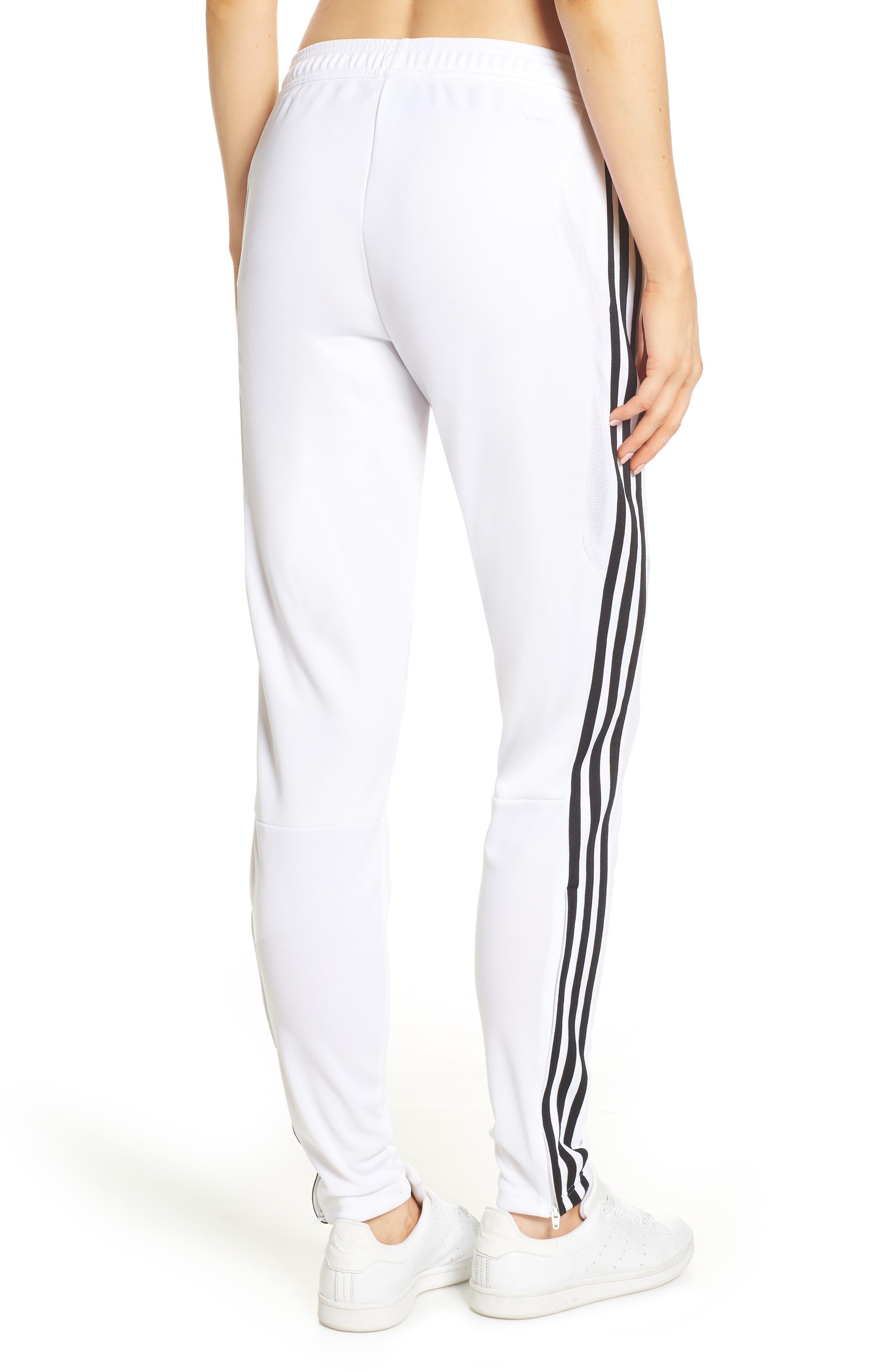 ADIDAS, Tiro 19 Training Pants, Alternate thumbnail 2, color, WHITE/ BLACK